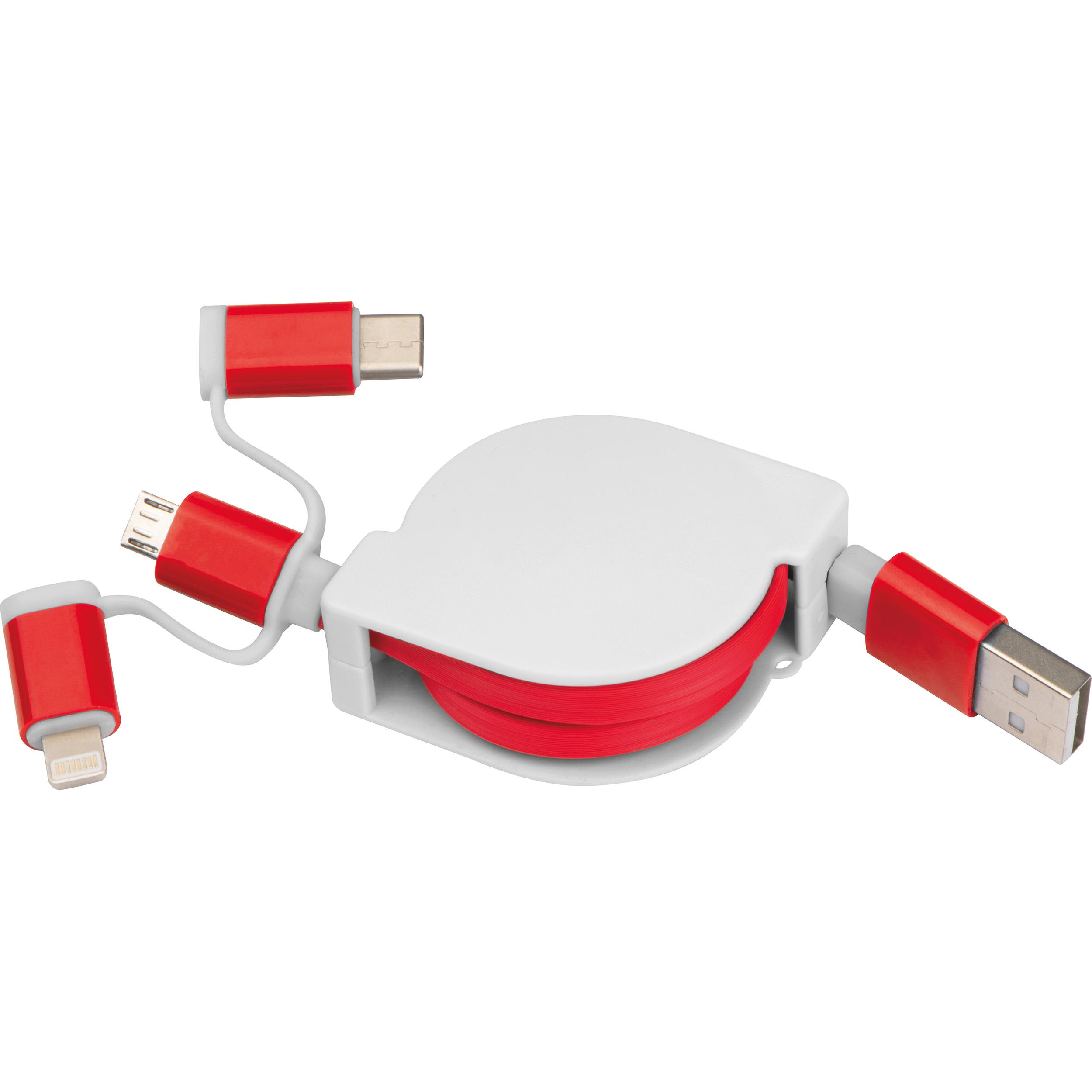 Câble de charge extensible avec 3 fiches