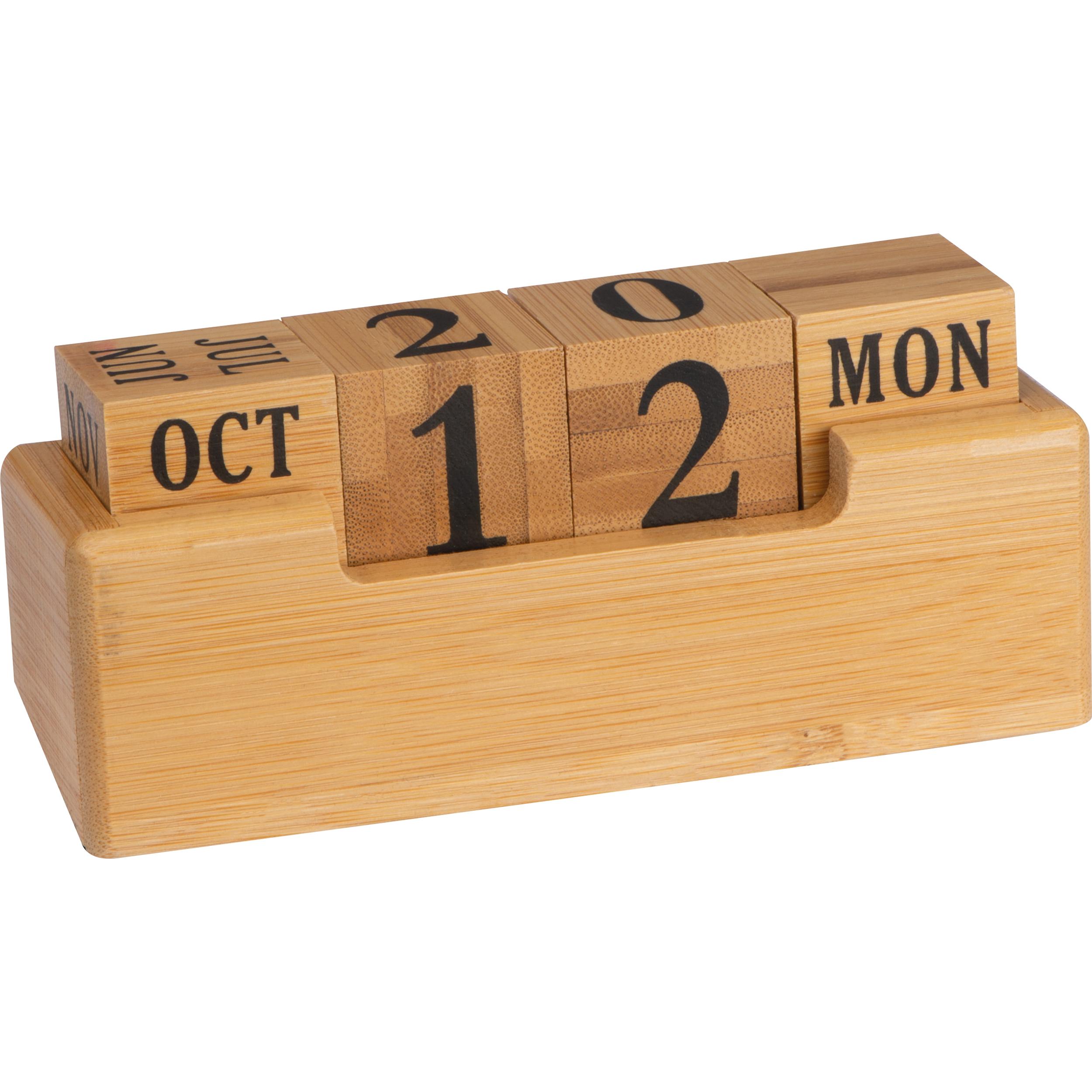 Schreibtischkalender aus Bambus