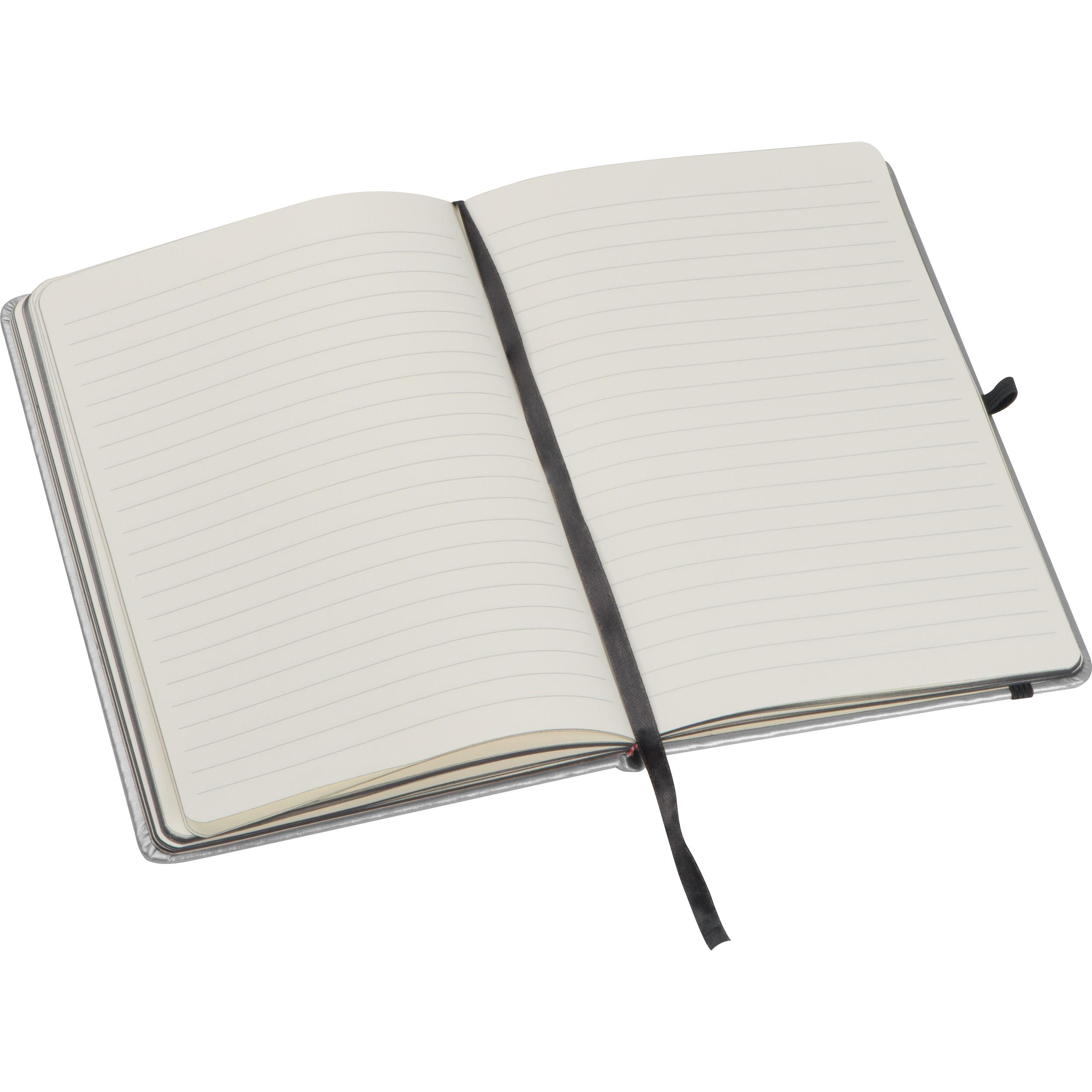 Notebook in metallic colors