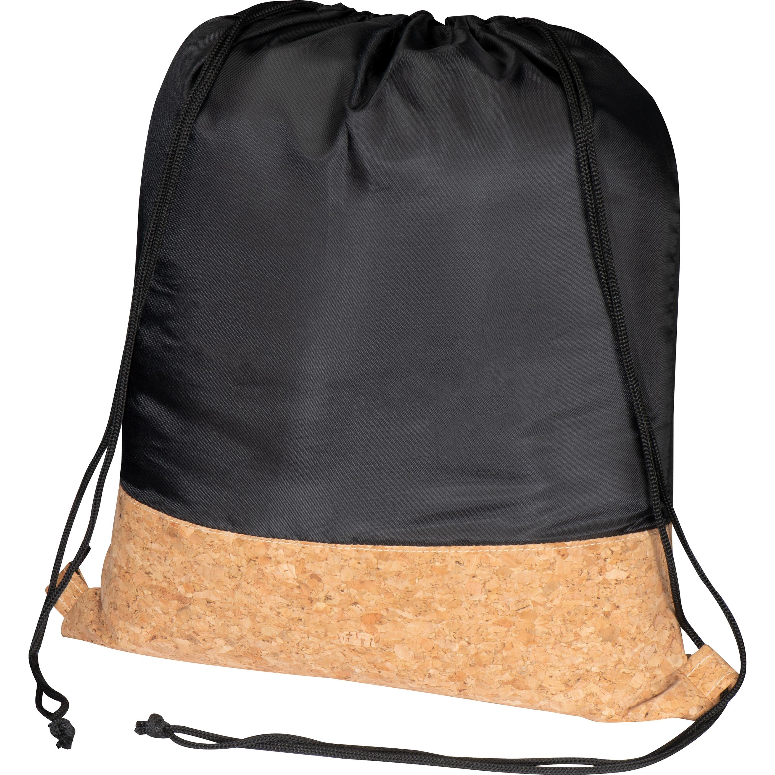 Gymbag aus Polyester mit Korkboden