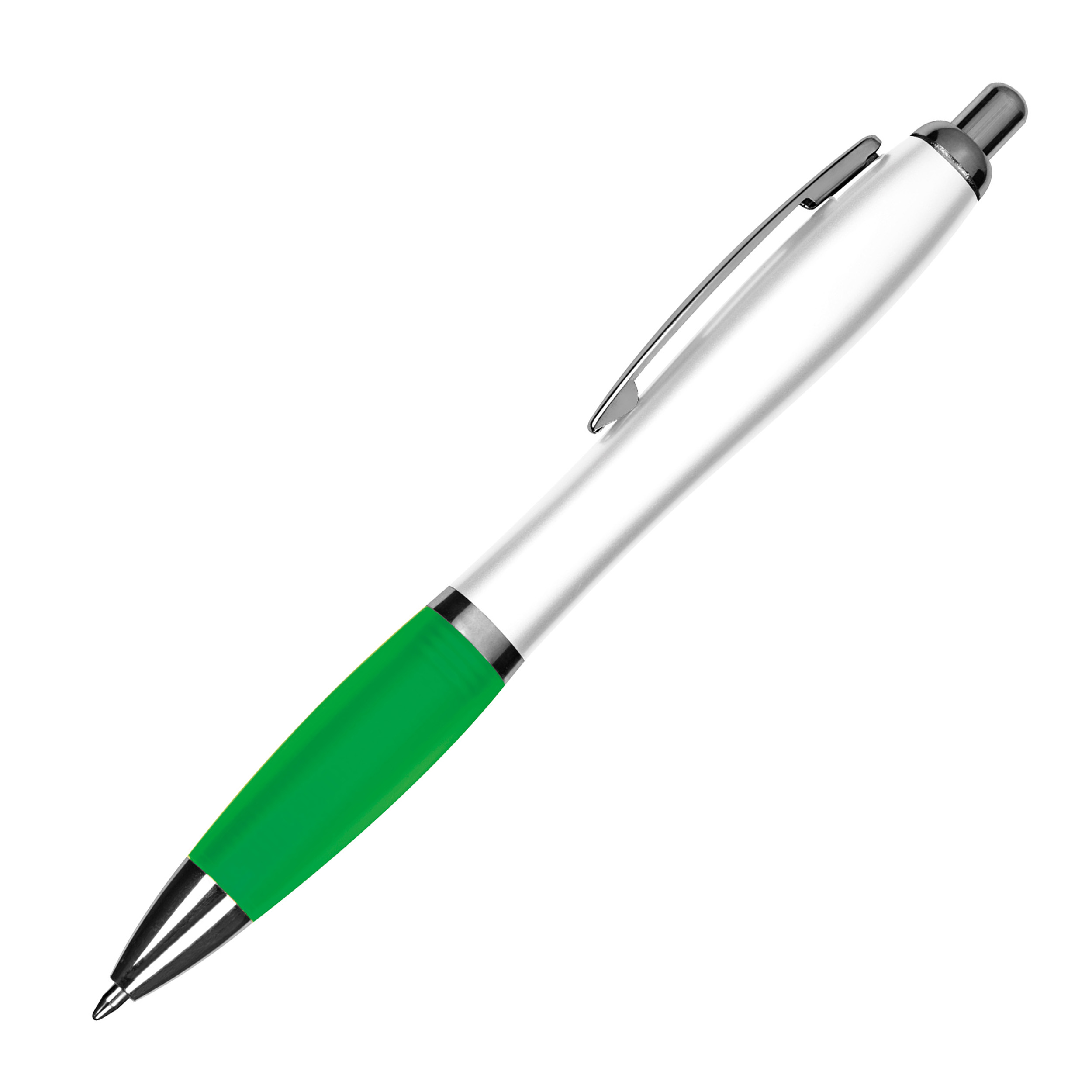 Kugelschreiber mit weißem Schaft