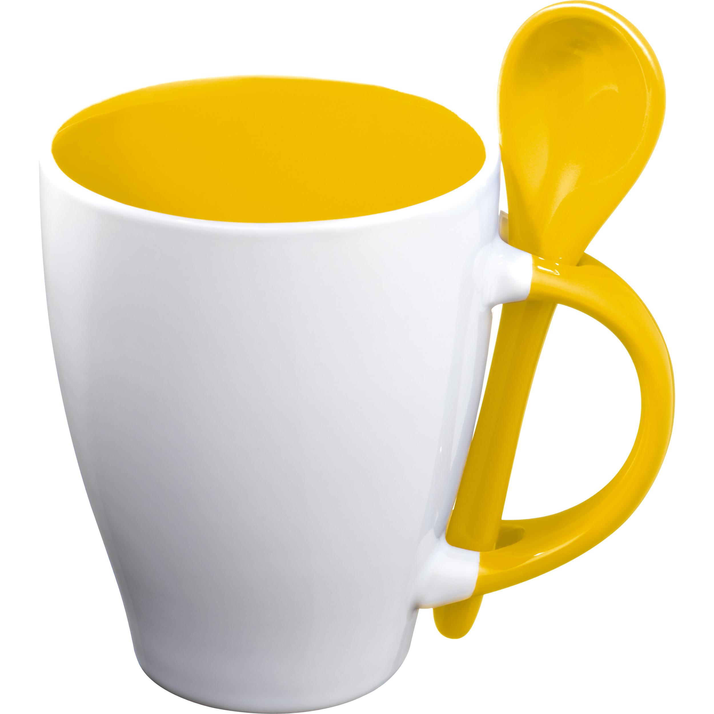 Tasse mit Löffel, 250 ml