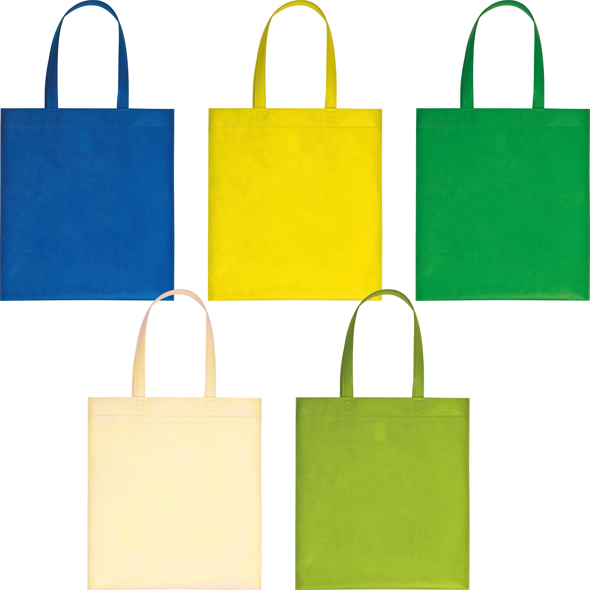 Non-woven bag with long handles