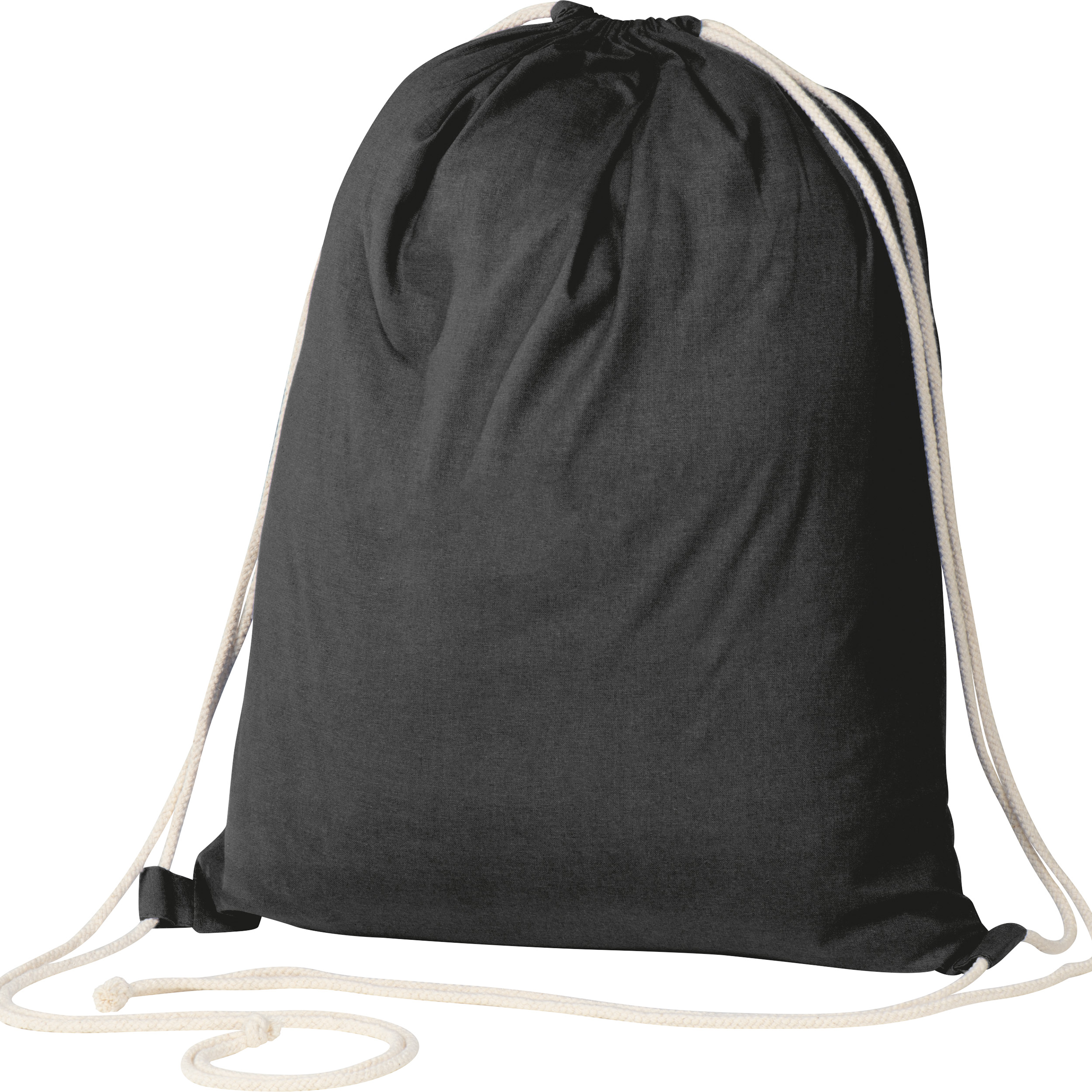 ECO Tex standard 100 certified Gymbag from environmentally friendly cotton (140g/m)