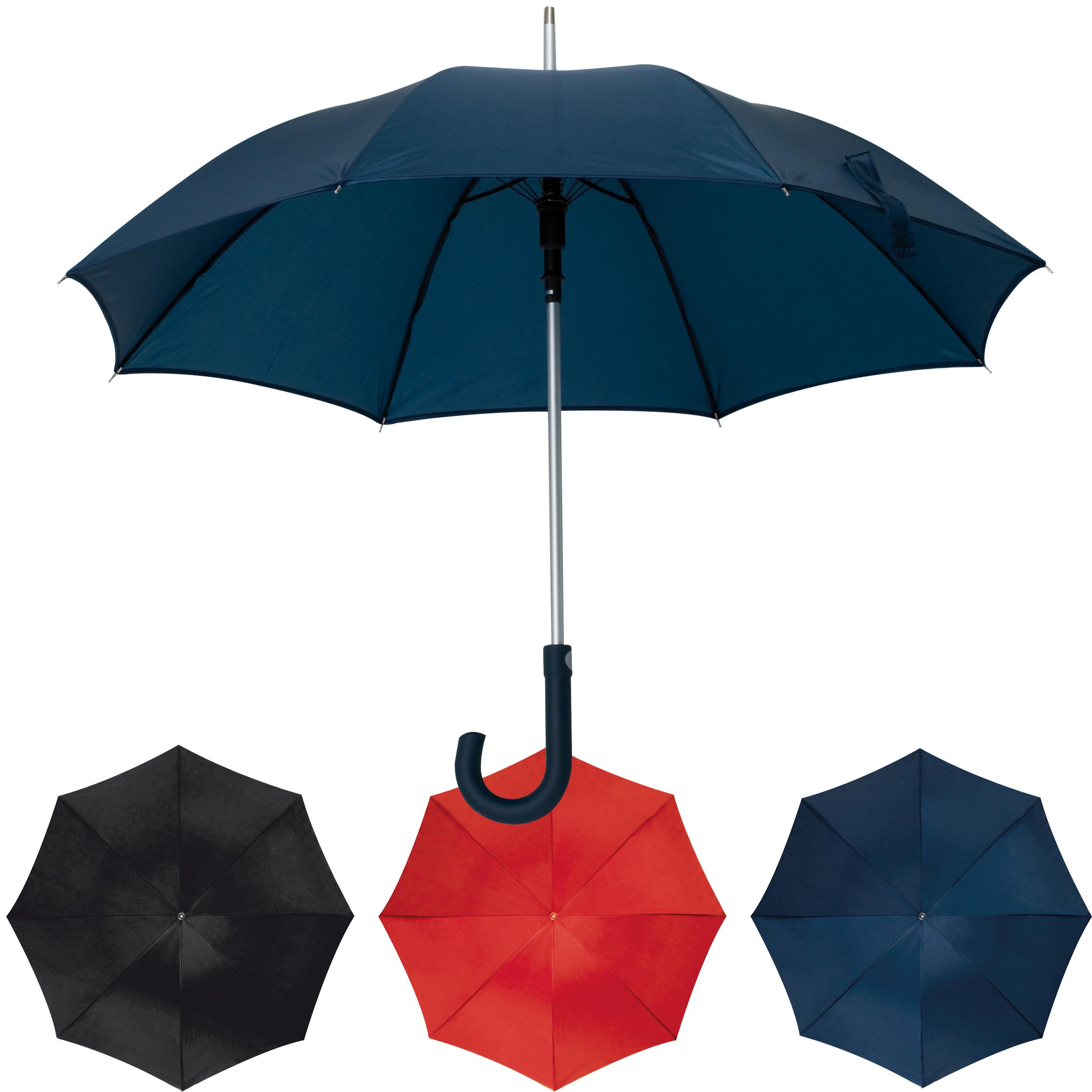 Parapluie automatique avec tige en aluminium