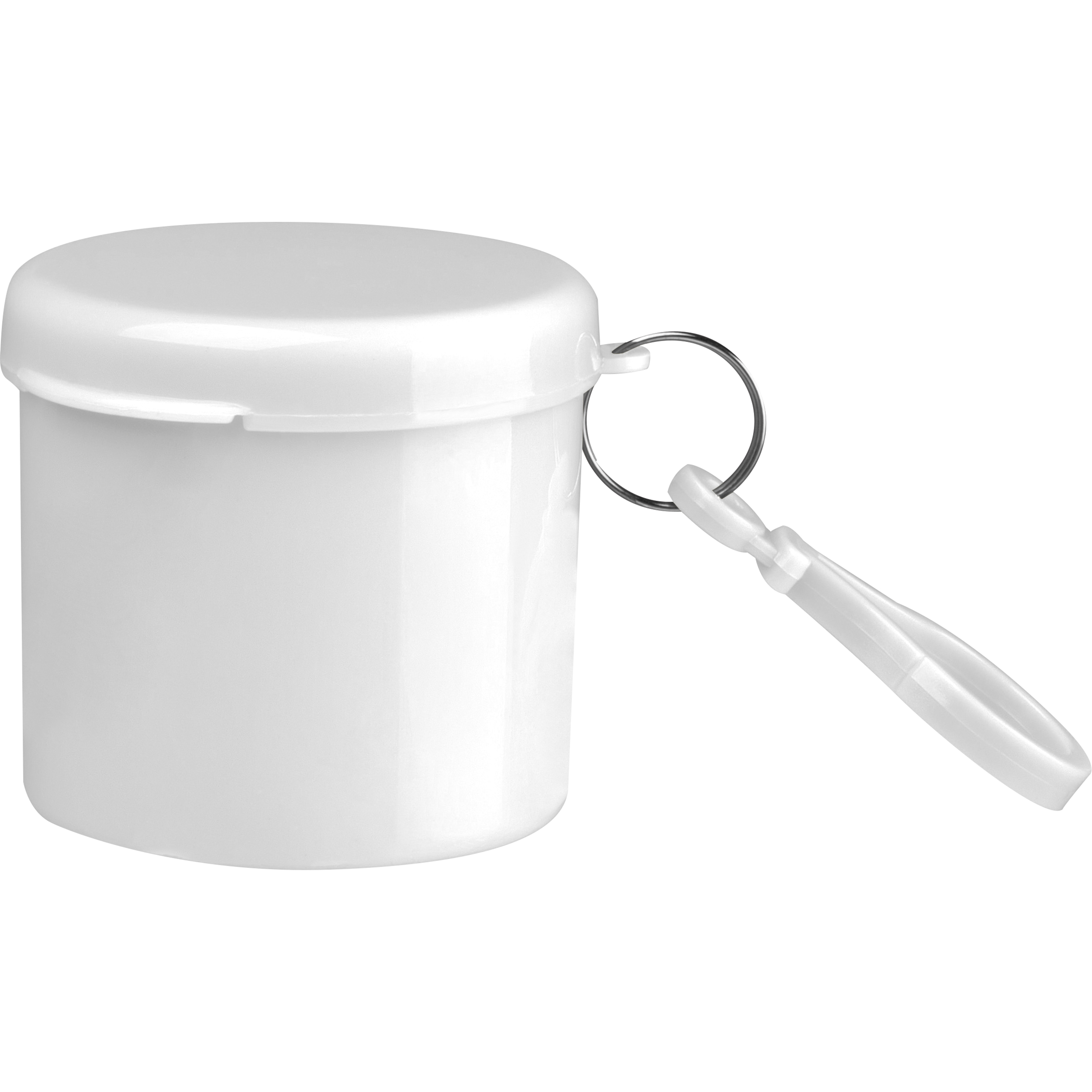 Regenponcho in einem Kunststoffdöschen