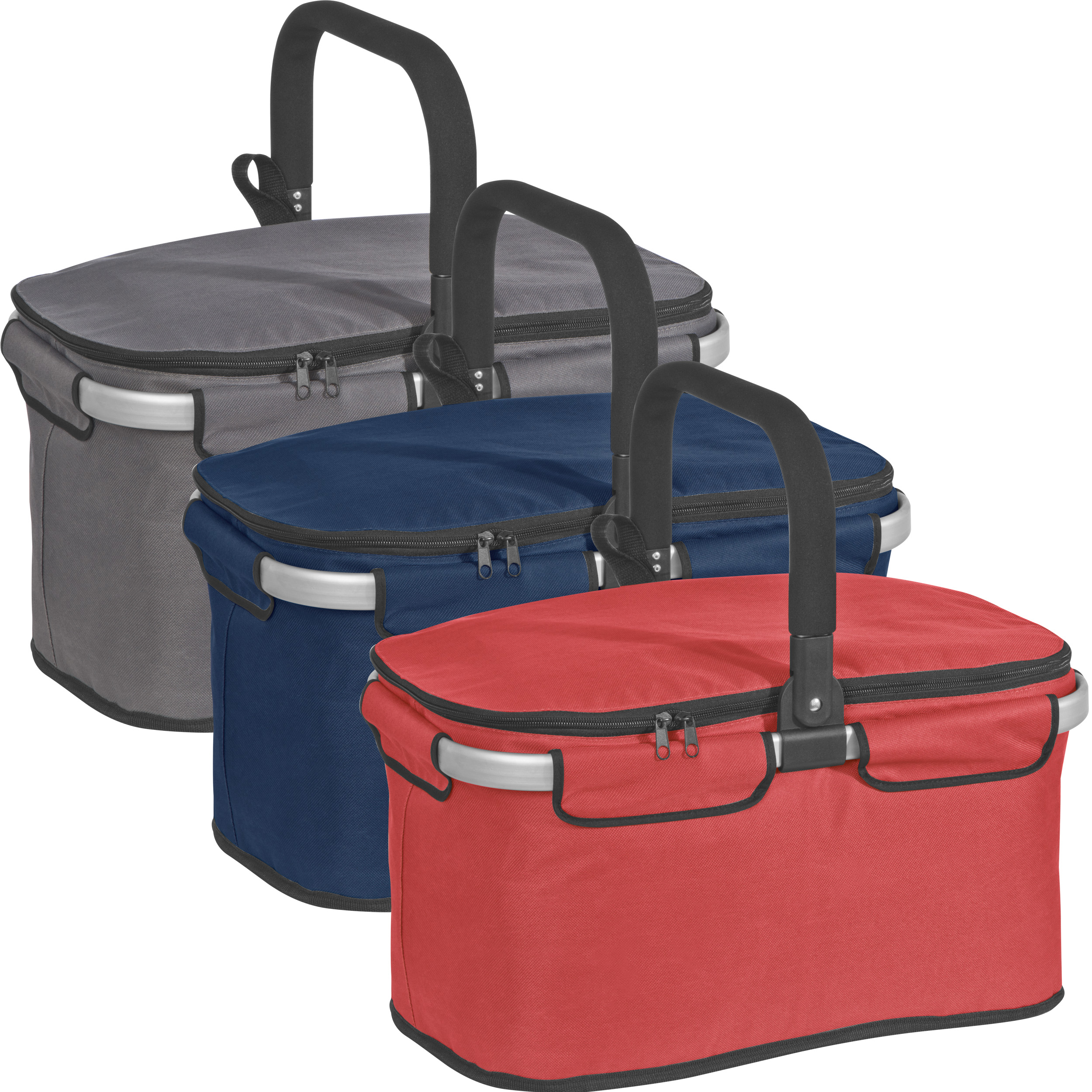 Luxury shopping basket with cooler function