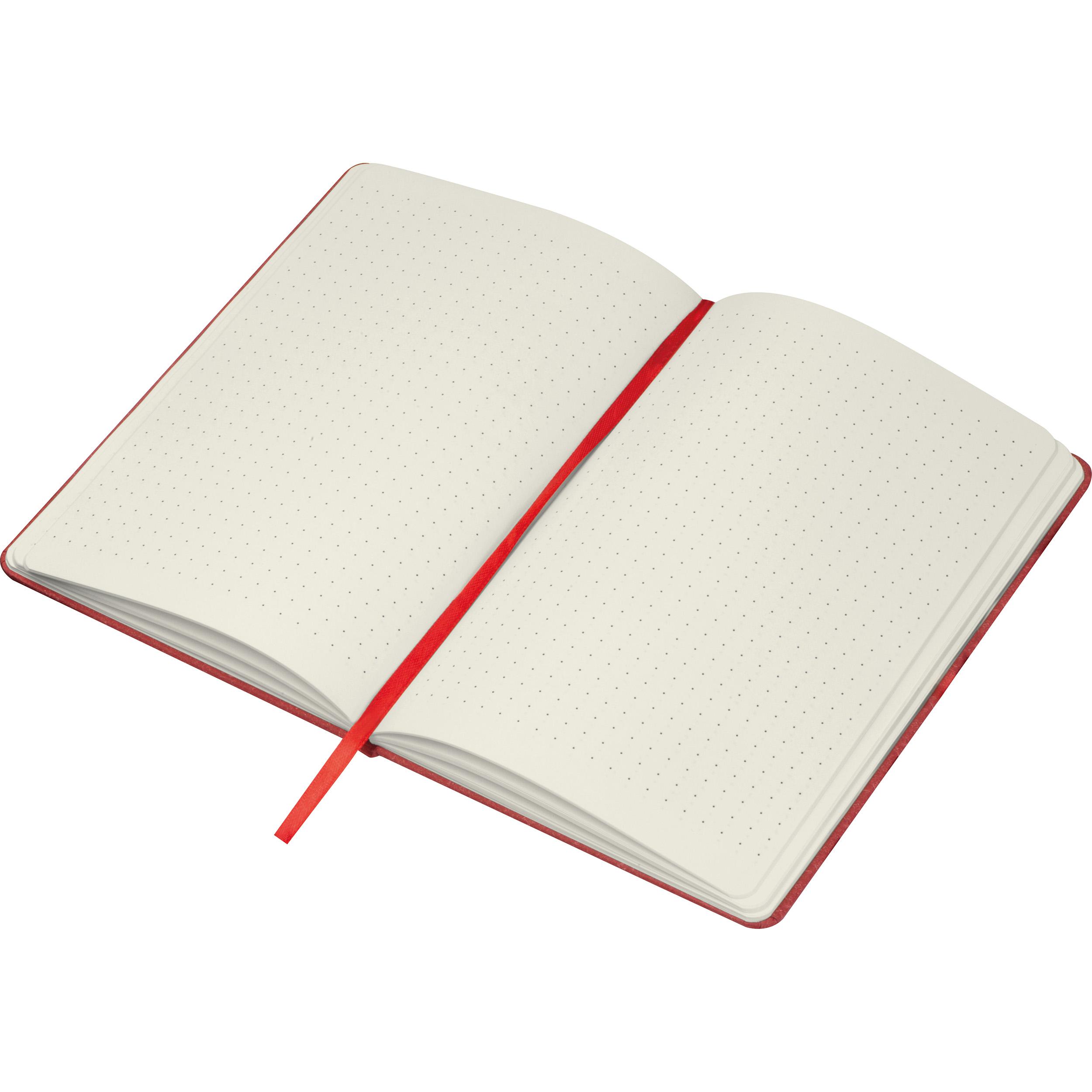 A5 Notizbuch mit Kartonumschlag und gepunkteten Seiten