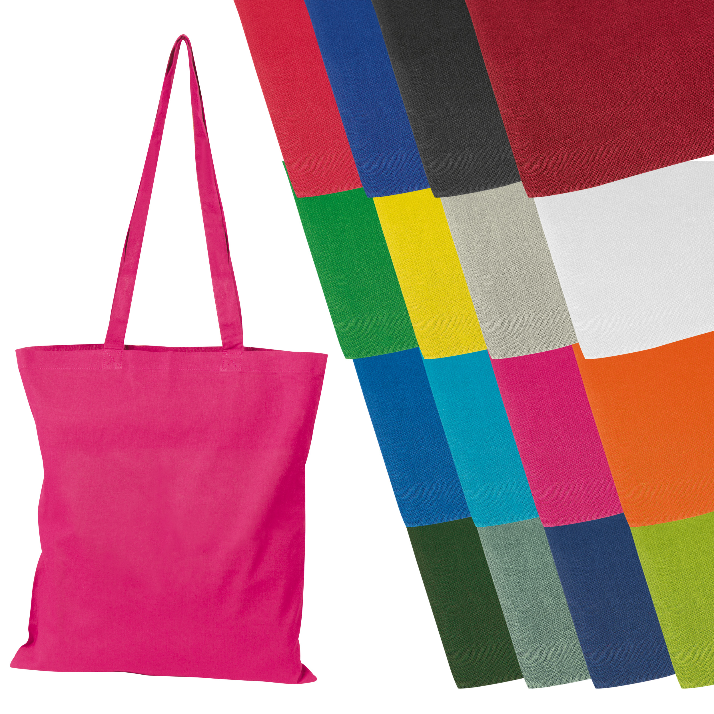 Cotton bag with long handles