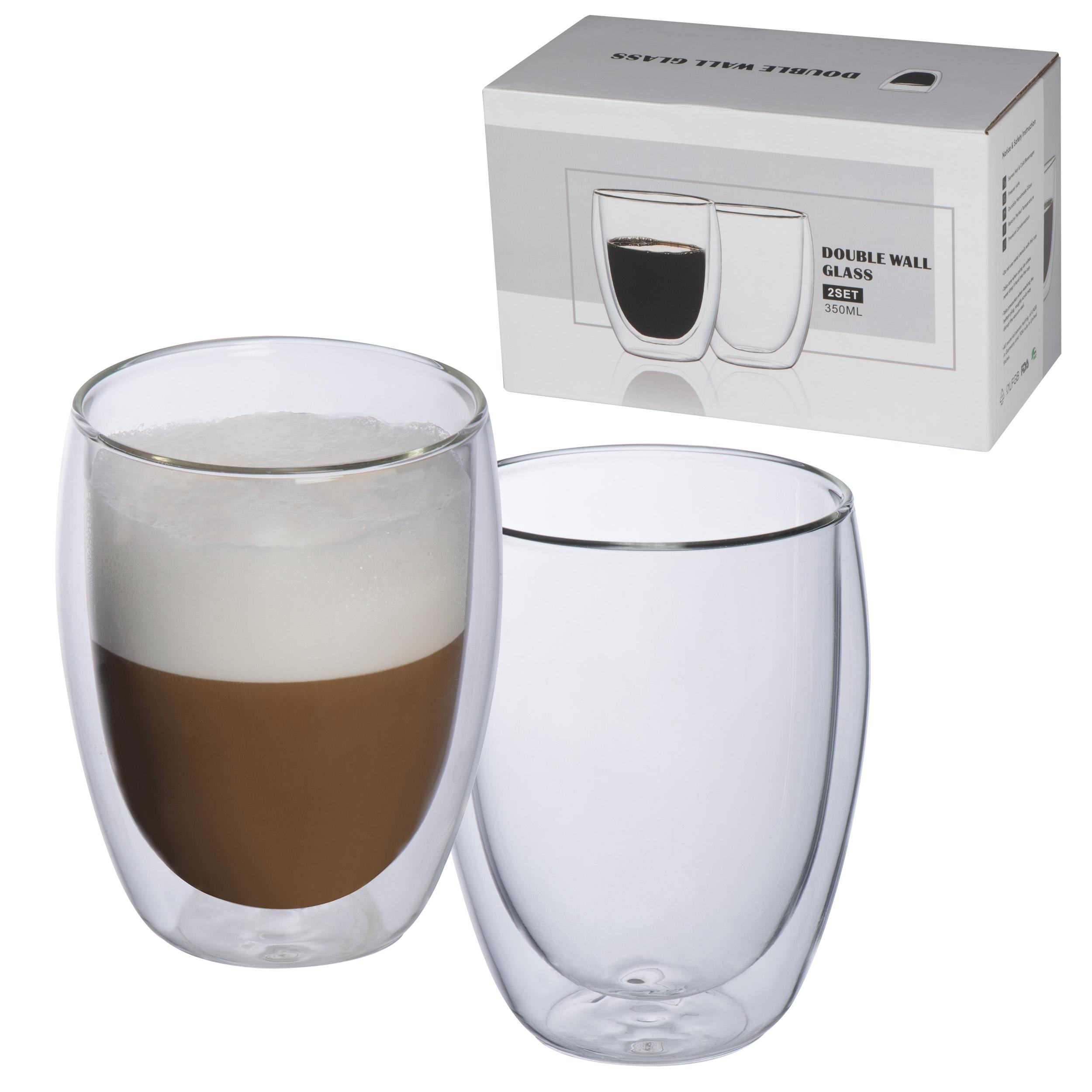 Set de 2 tasses cappuccino double paroi