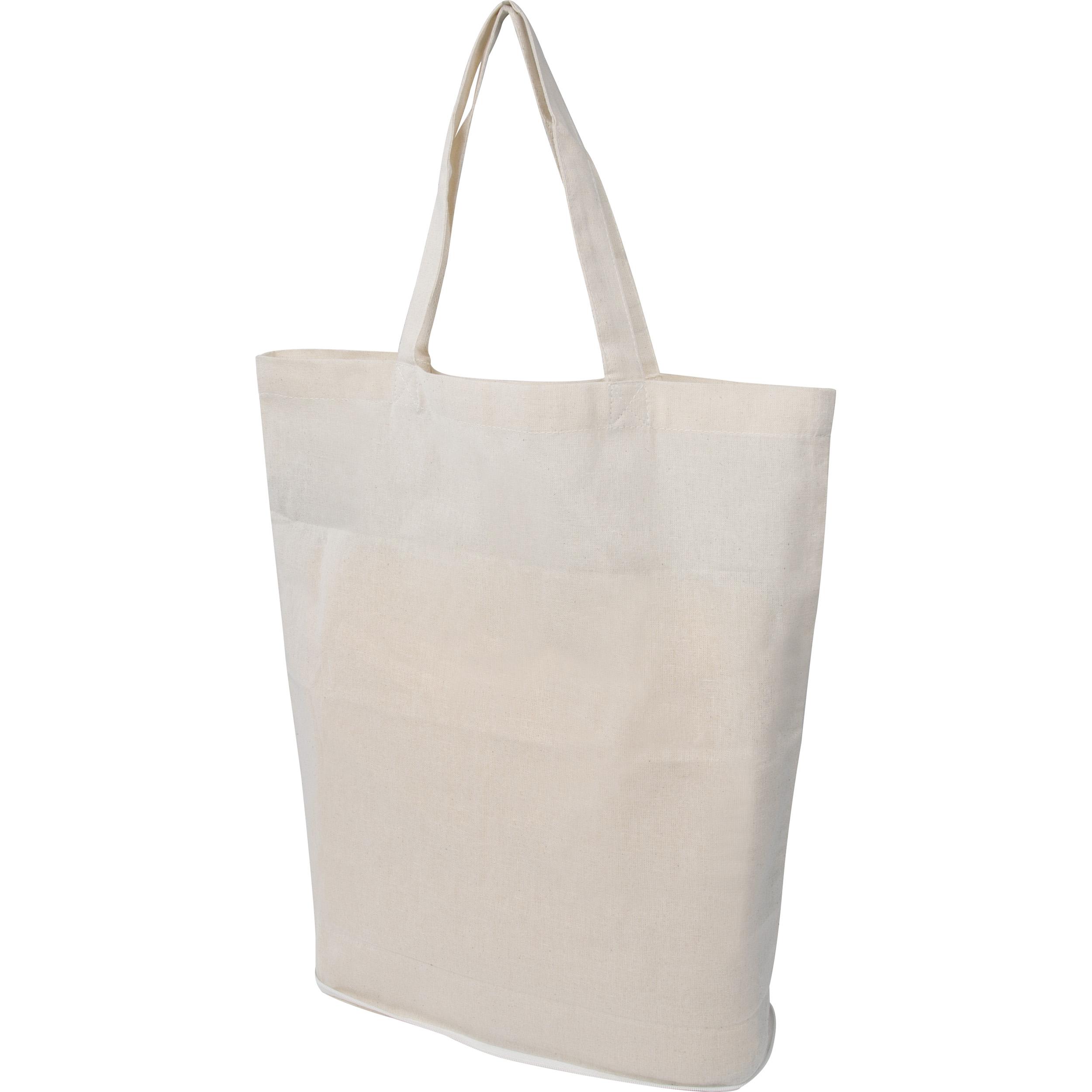 Faltbare Oeko-Tex® STANDARD 100 Einkaufstasche aus Baumwolle