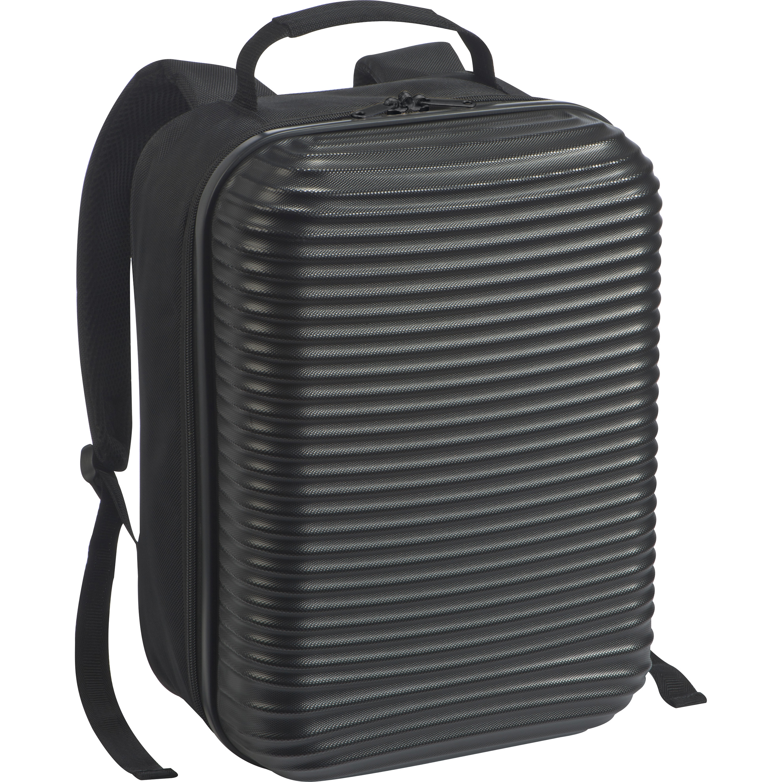 Backpack with hardcover front