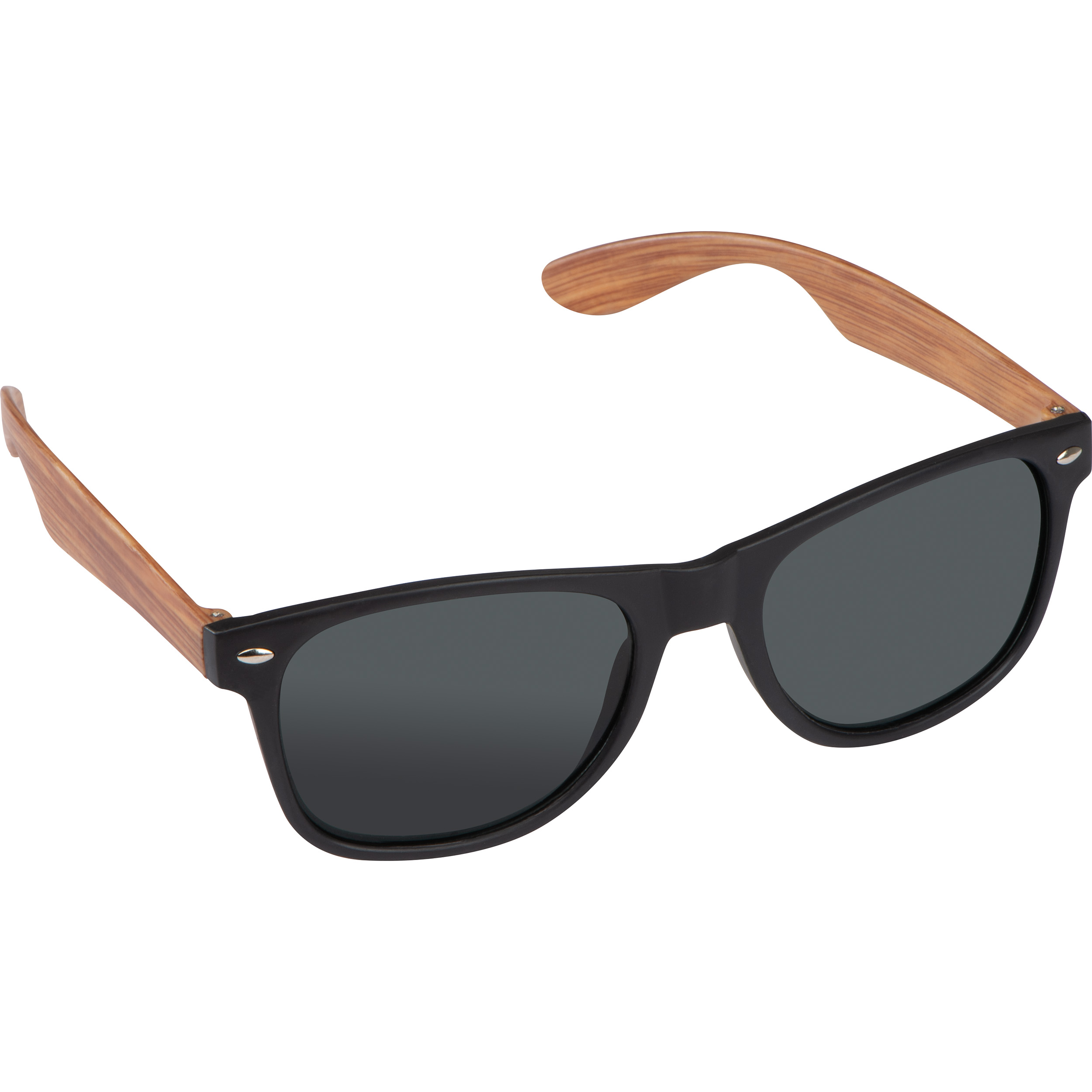 Sunglasses with wooden-look temples
