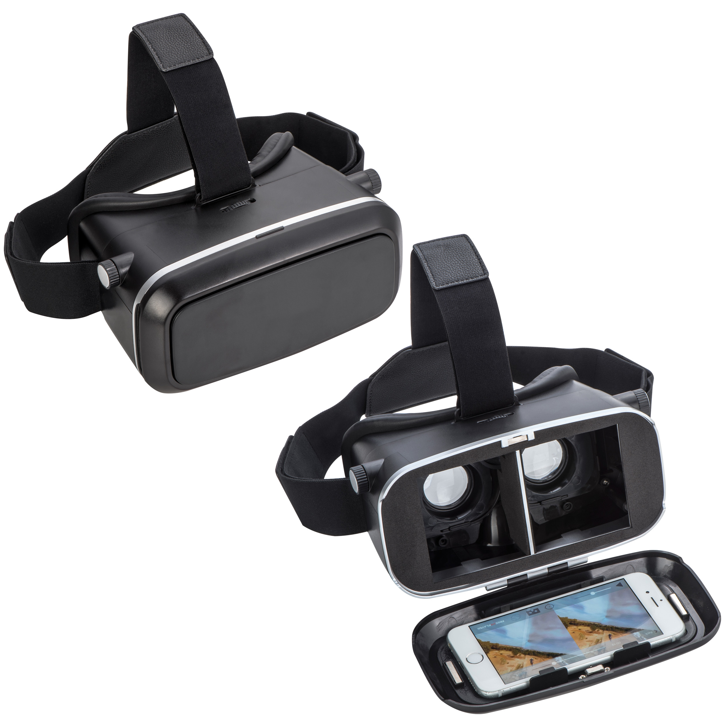 Virtual Reality glasses made of PVC