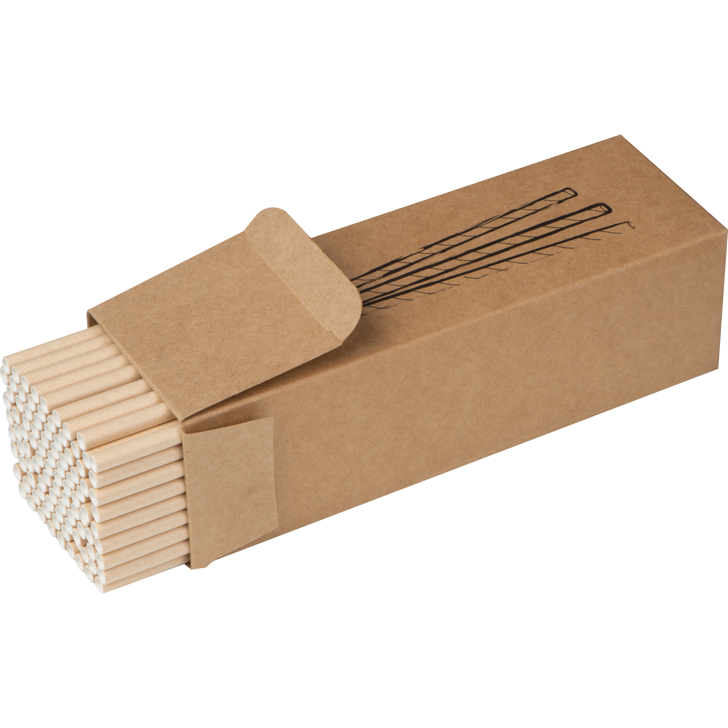 Lot de 100 pailles en papier