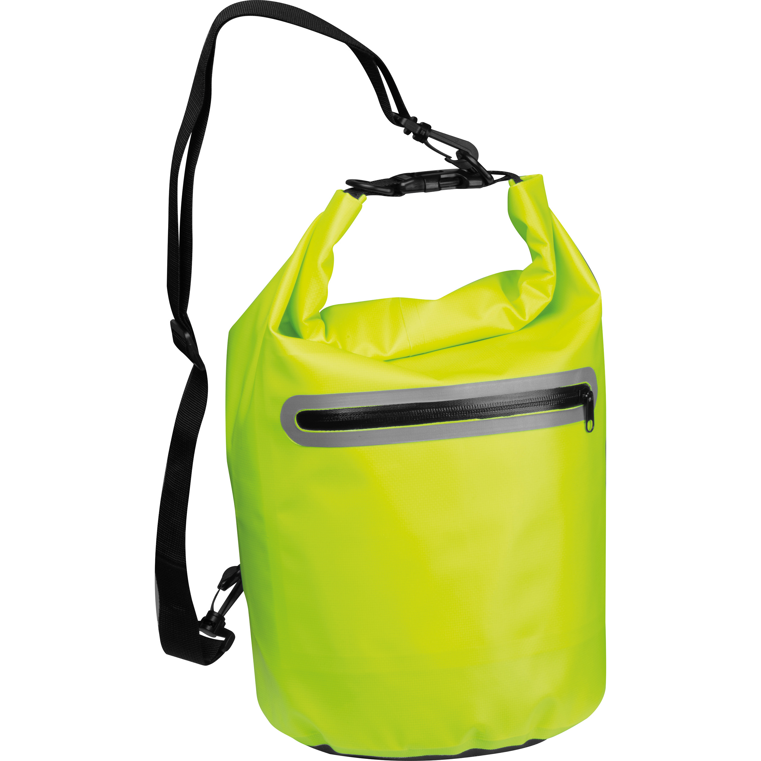 Waterproof bag with reflective stripes