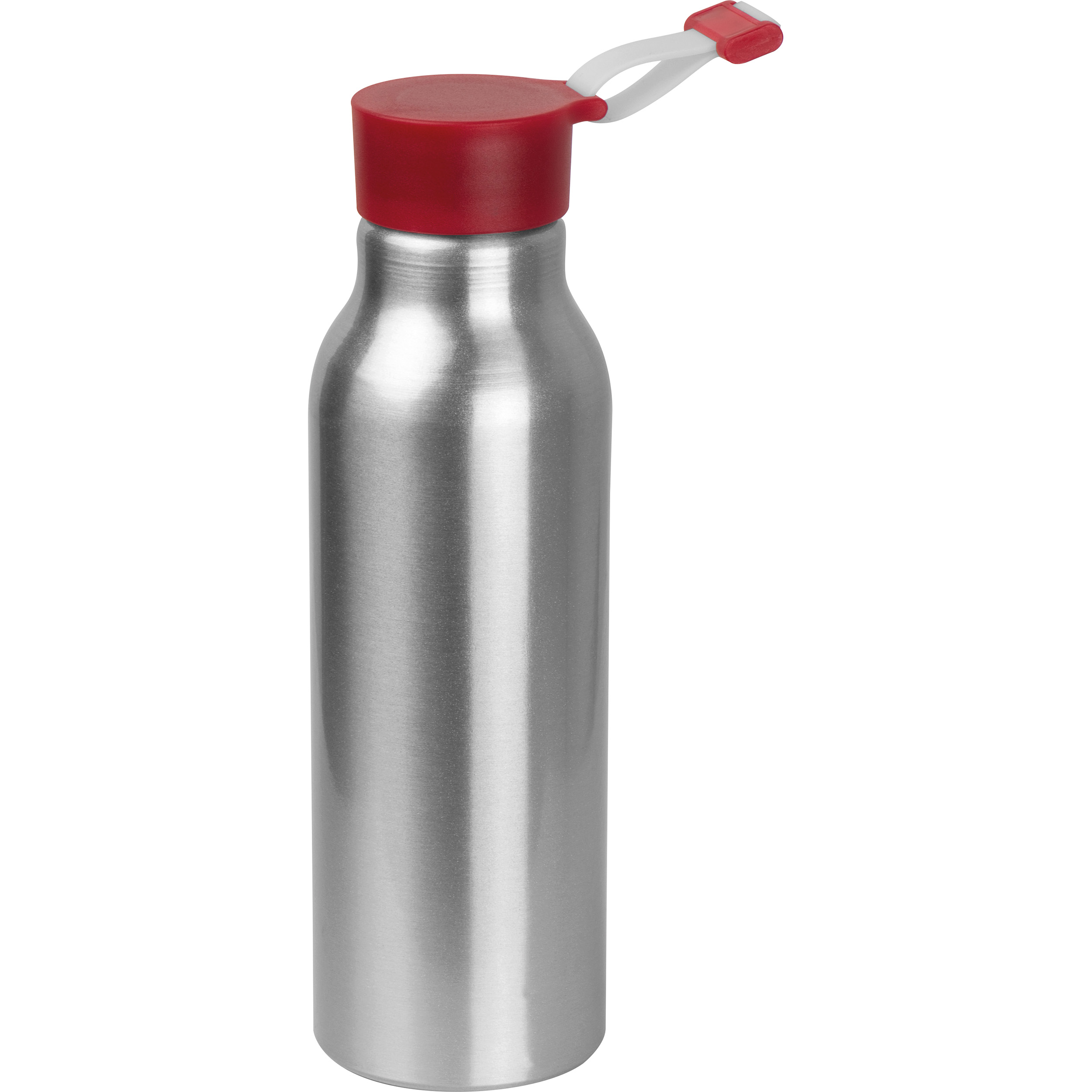 Metal drinking bottle with silicone lid