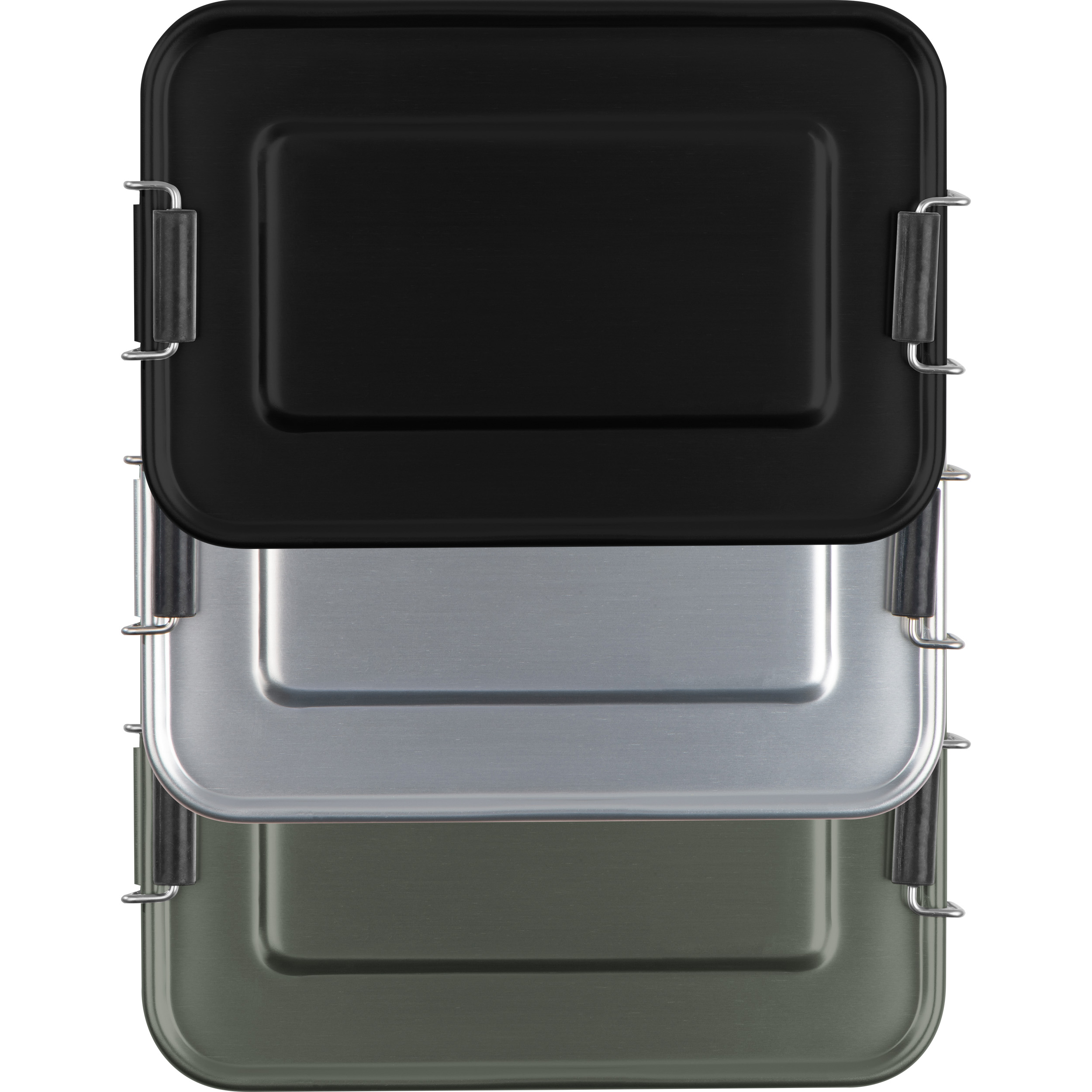 Aluminum lunch box with closure