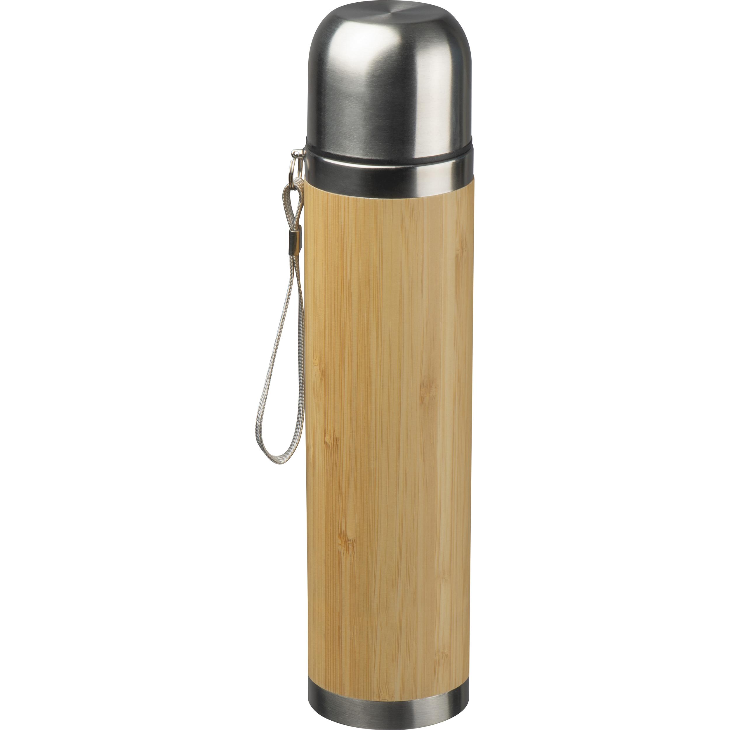 Isolierkanne mit Bambusummantelung 500 ml