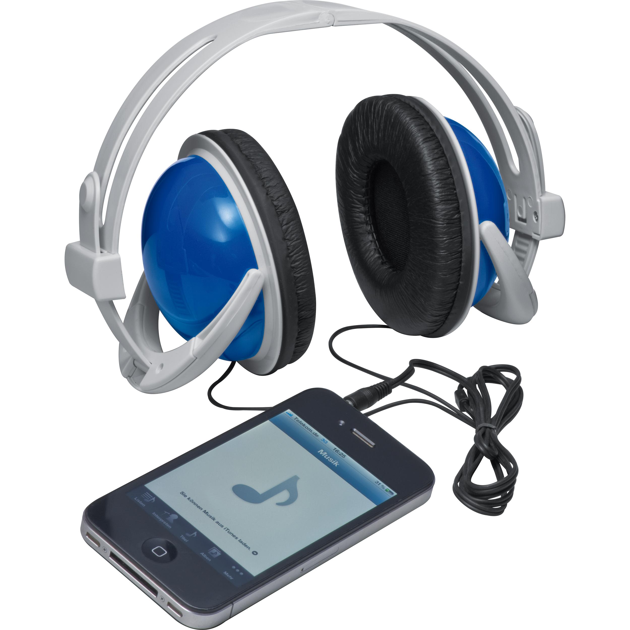 Casque audio avec écouteurs de couleur