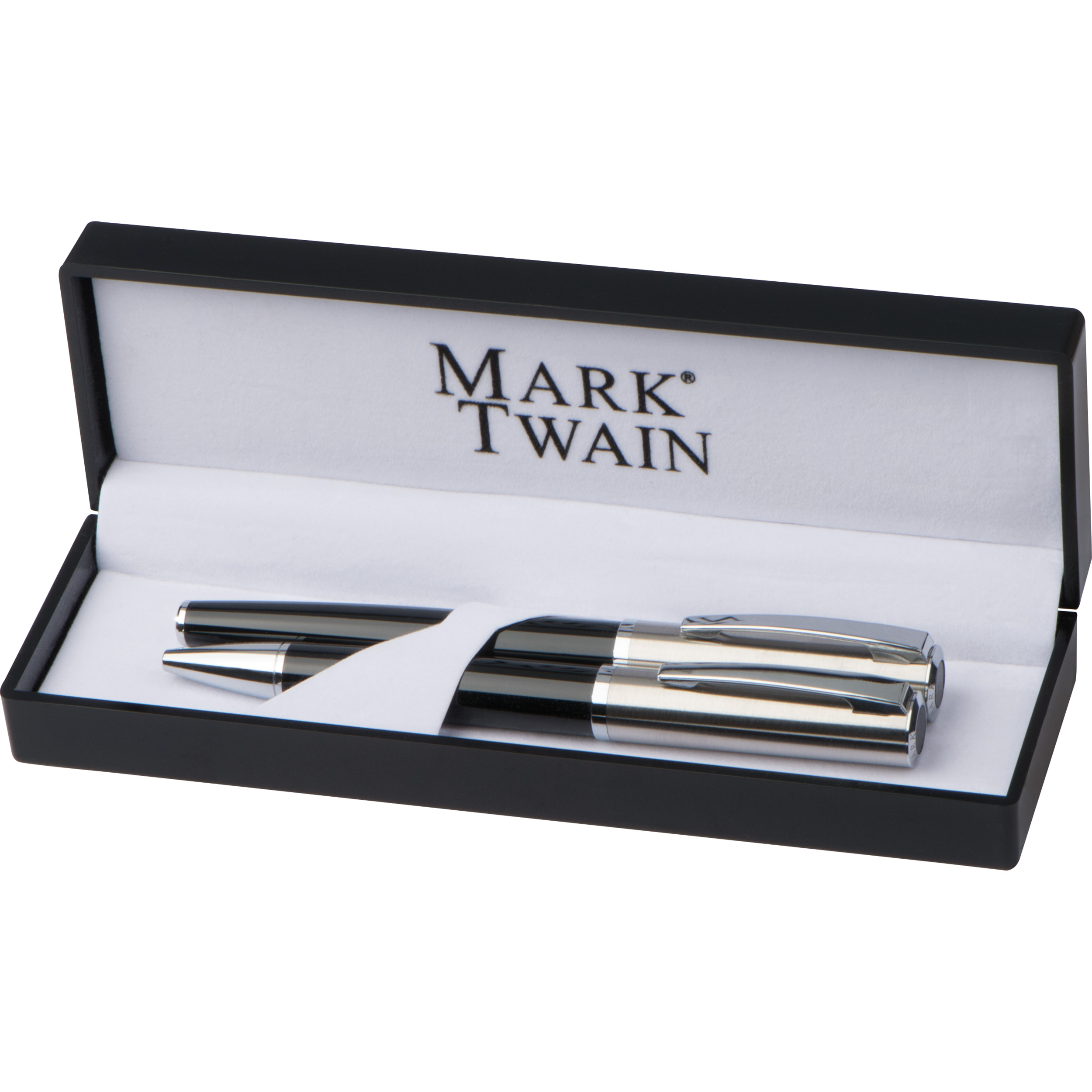 Mark Twain writing set with ball pen and rollerball pen