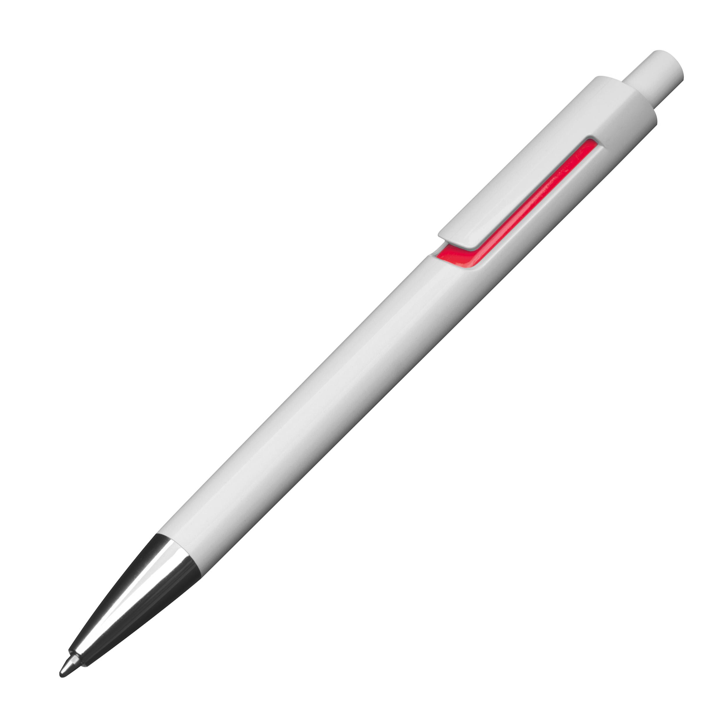 Stylo bille blanc avec applications colorées