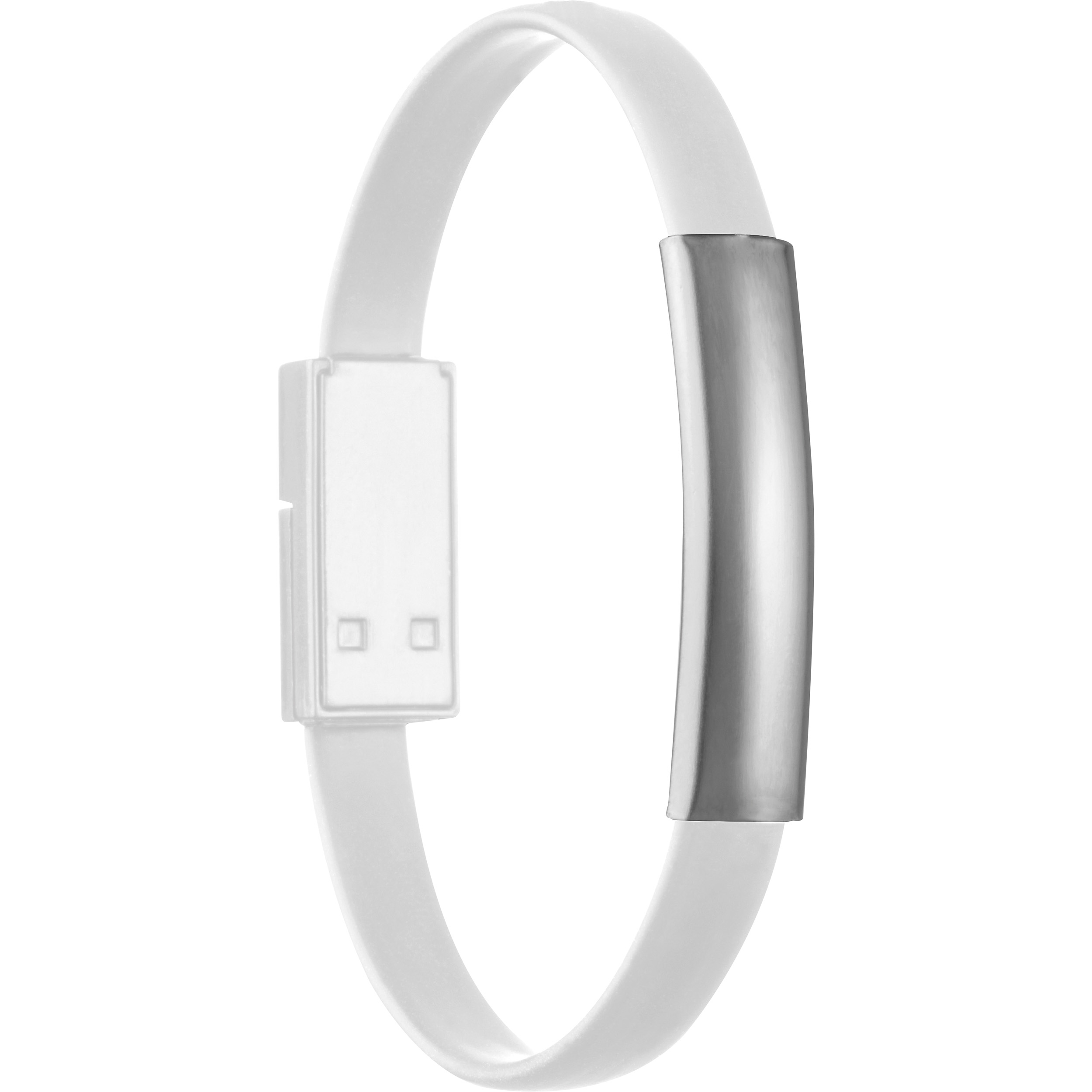 Silicone wristband for Data- or Powertransfer.