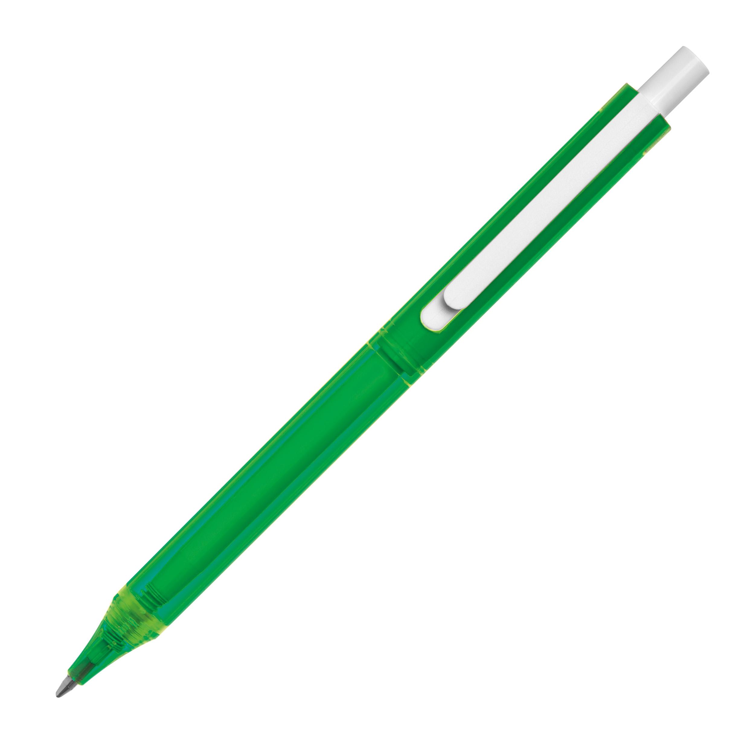 Transparent plastic ball pen