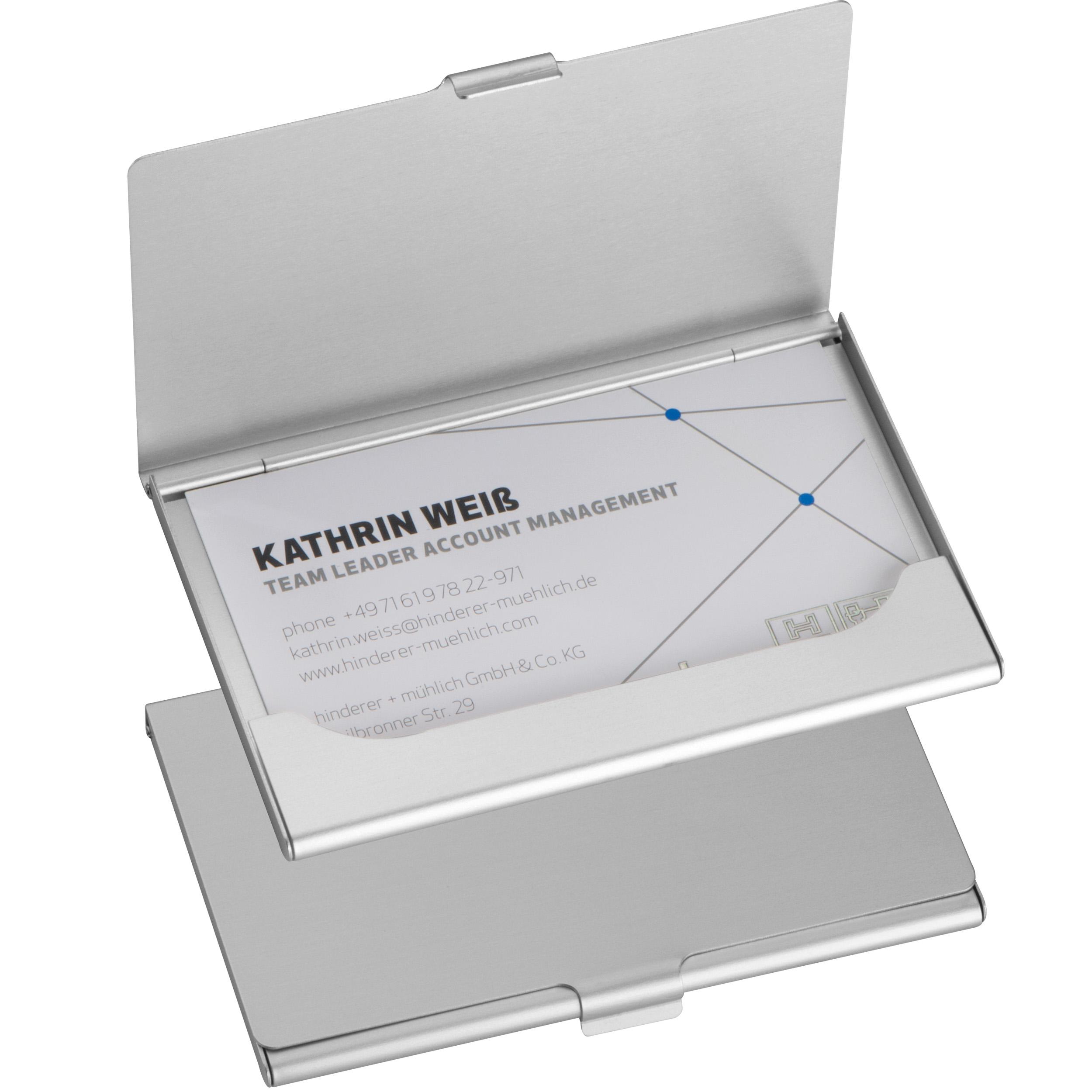 Aluminium business card holder