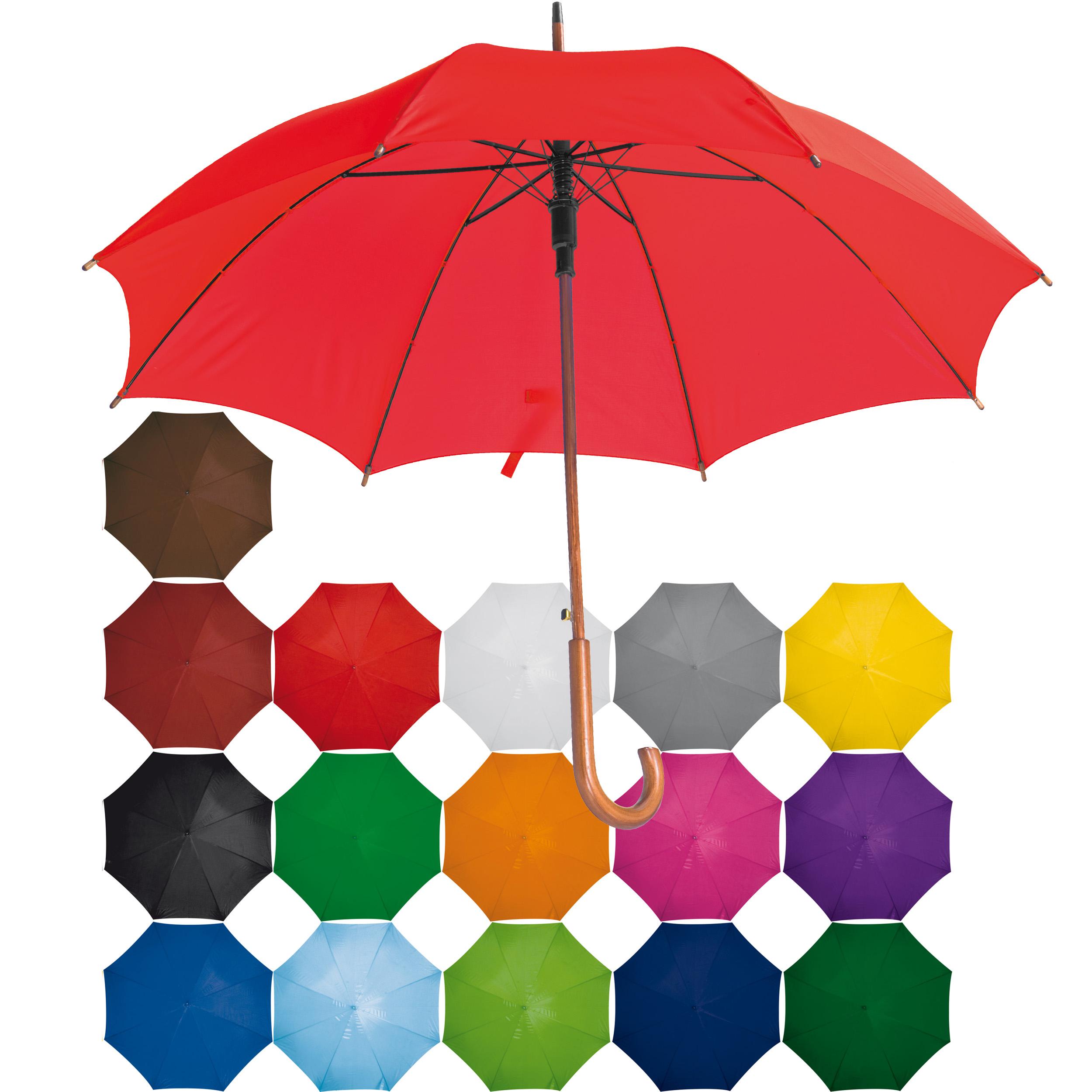 Parapluie automatique avec manche courbée