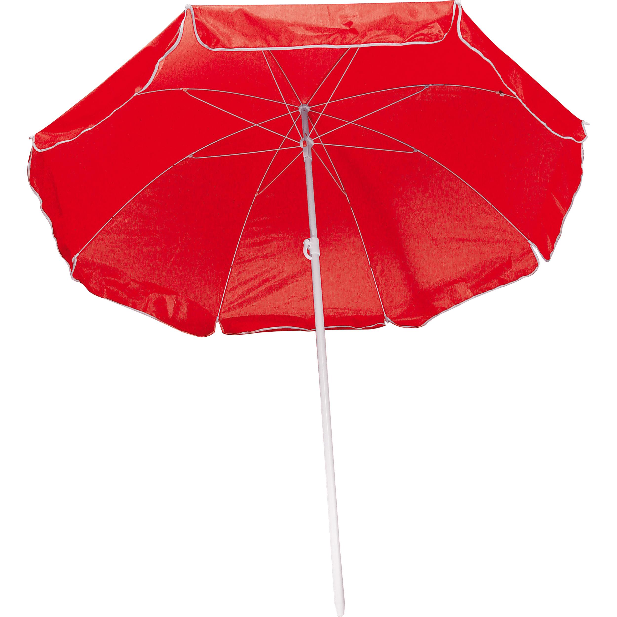 Parasol livré dans un étui plastique