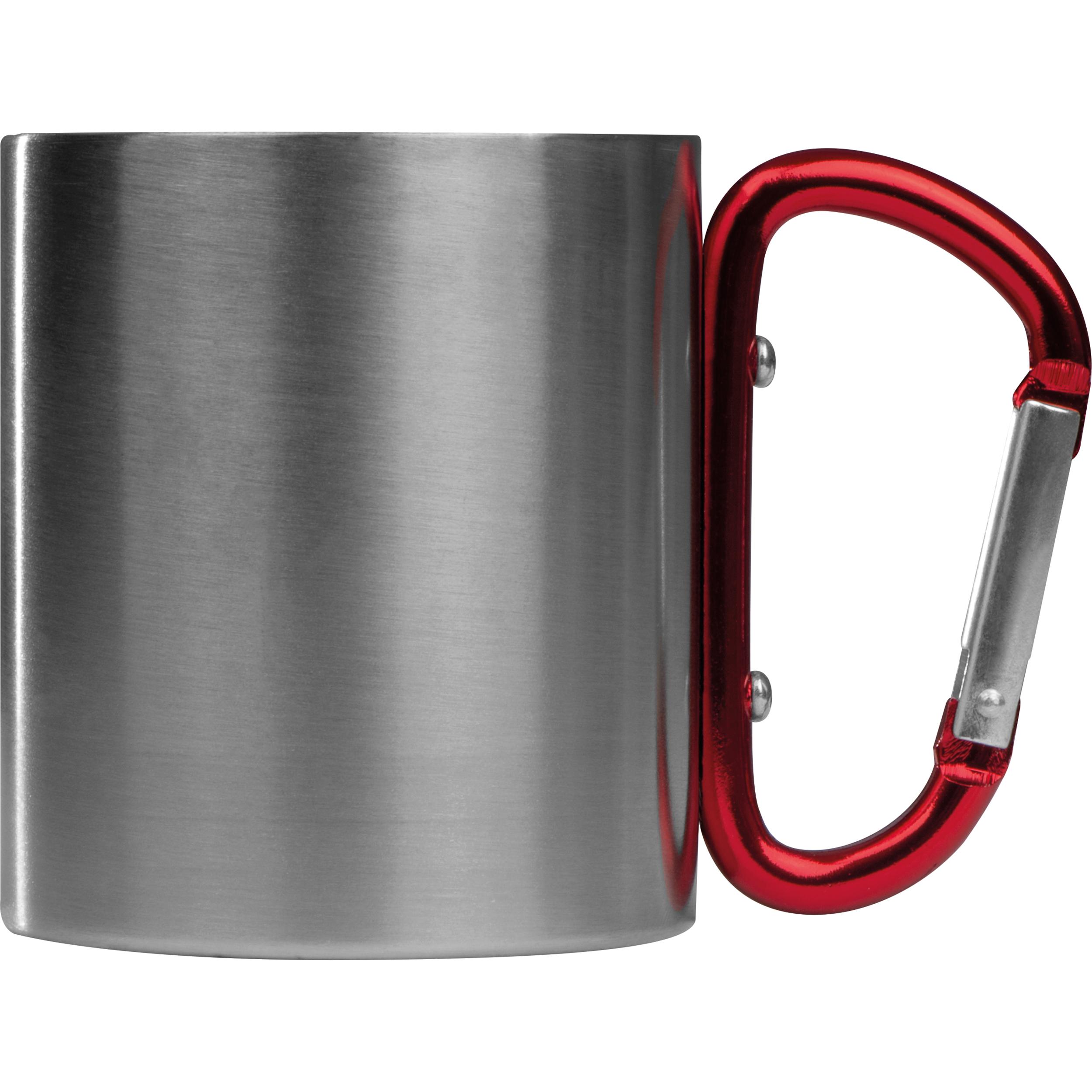 Tasse en métal avec mousqueton