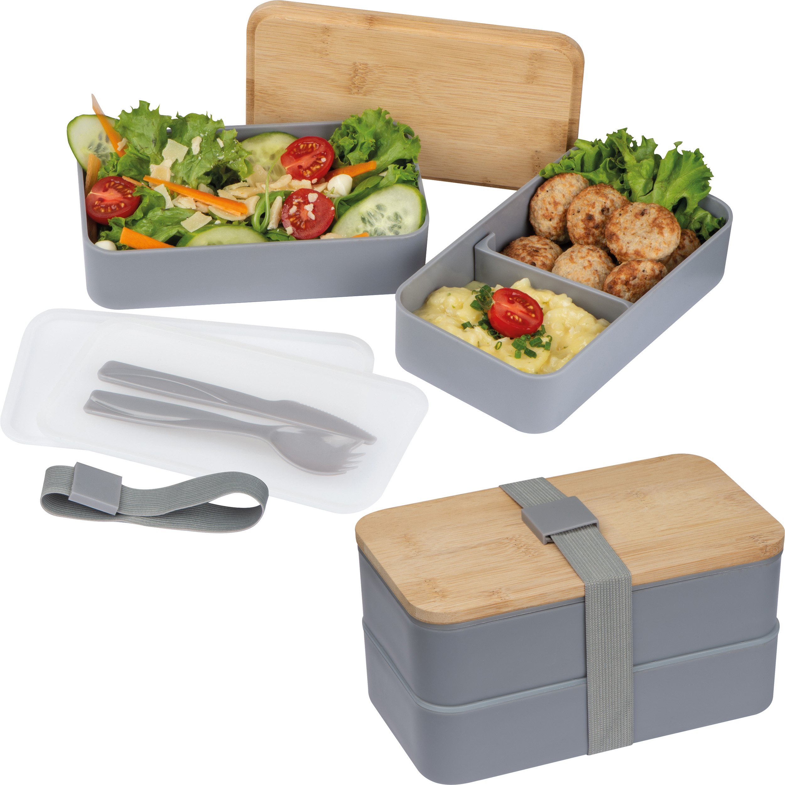 Lunchbox with two compartments