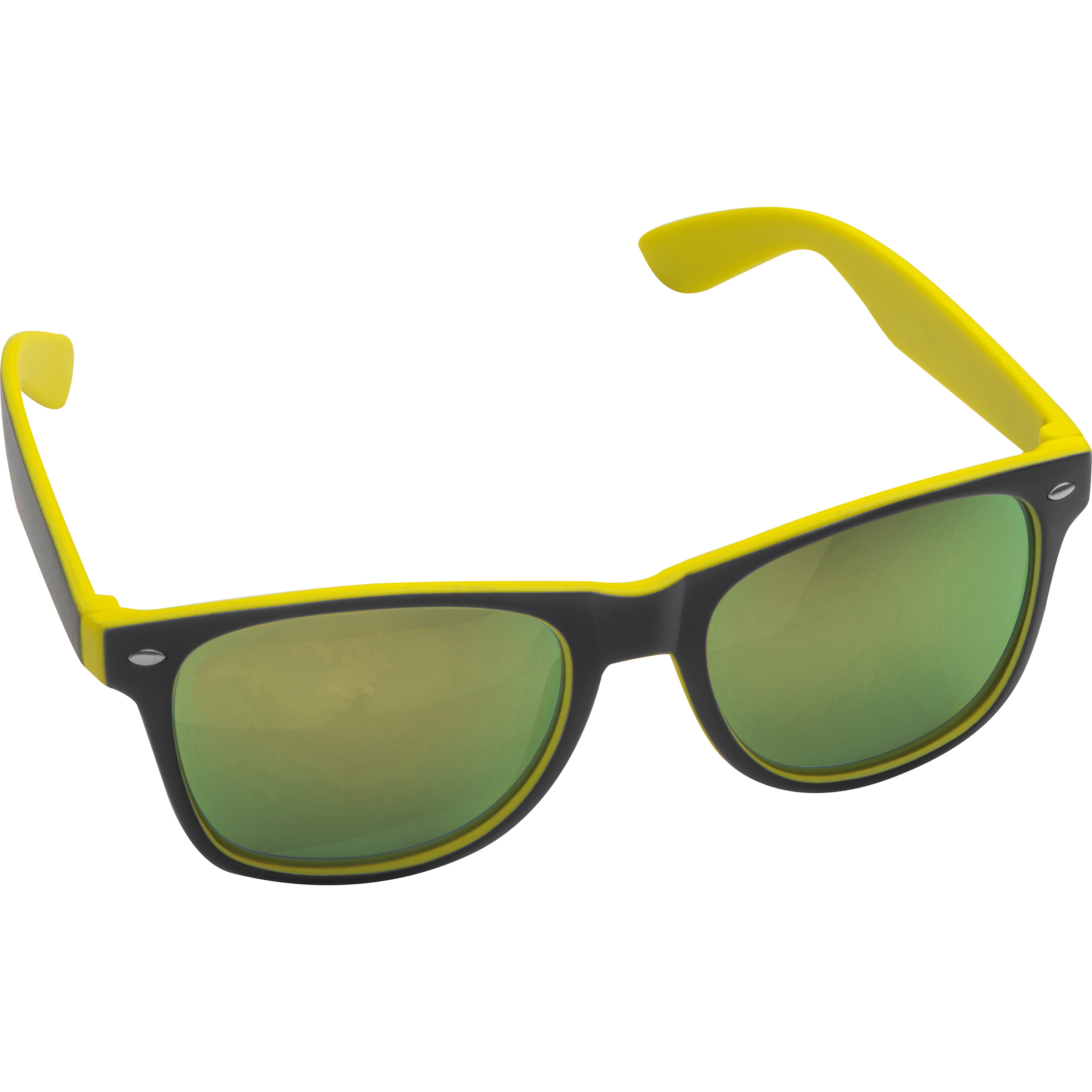 Bicoloured sunglasses with mirrored lenses