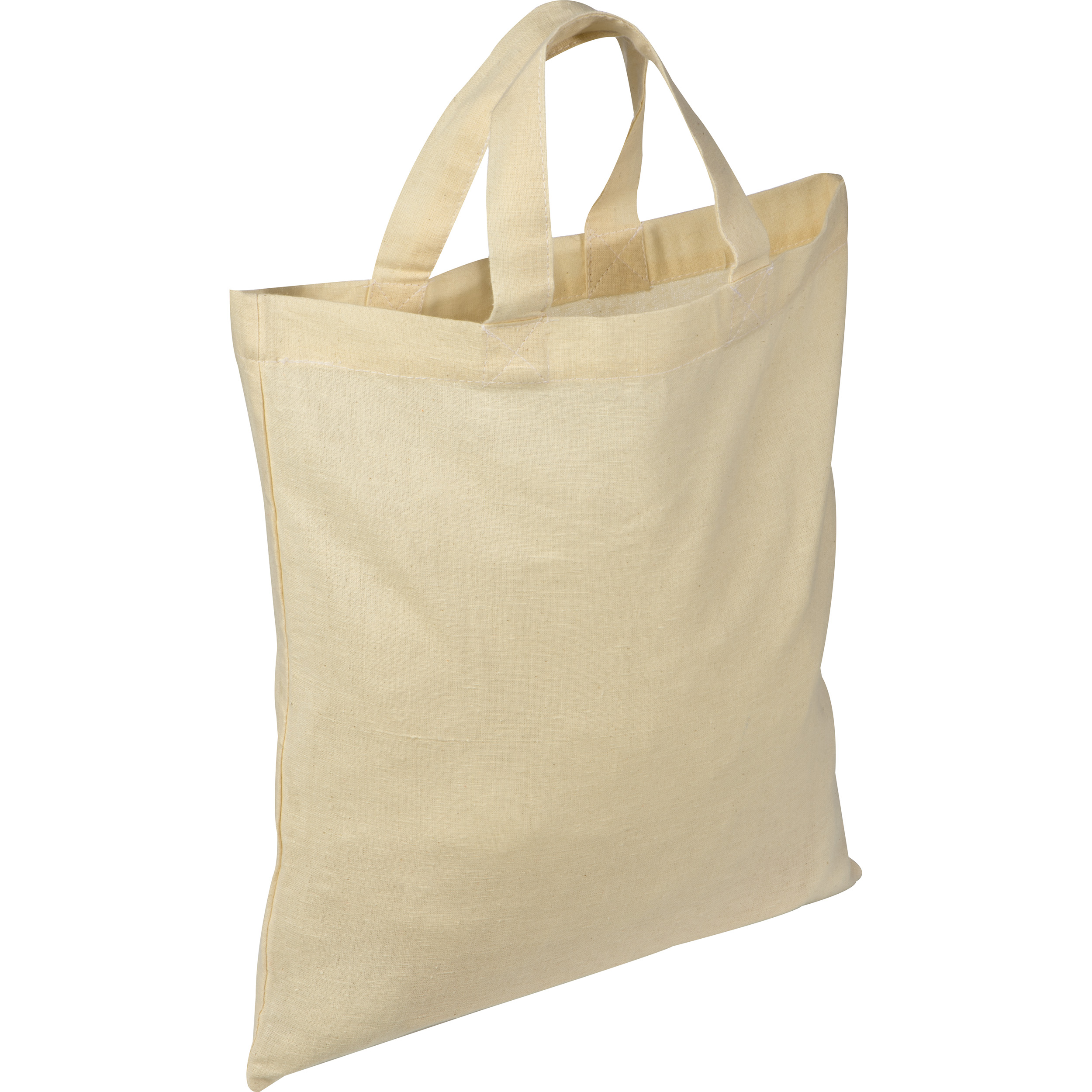 Cotton bag with short handles