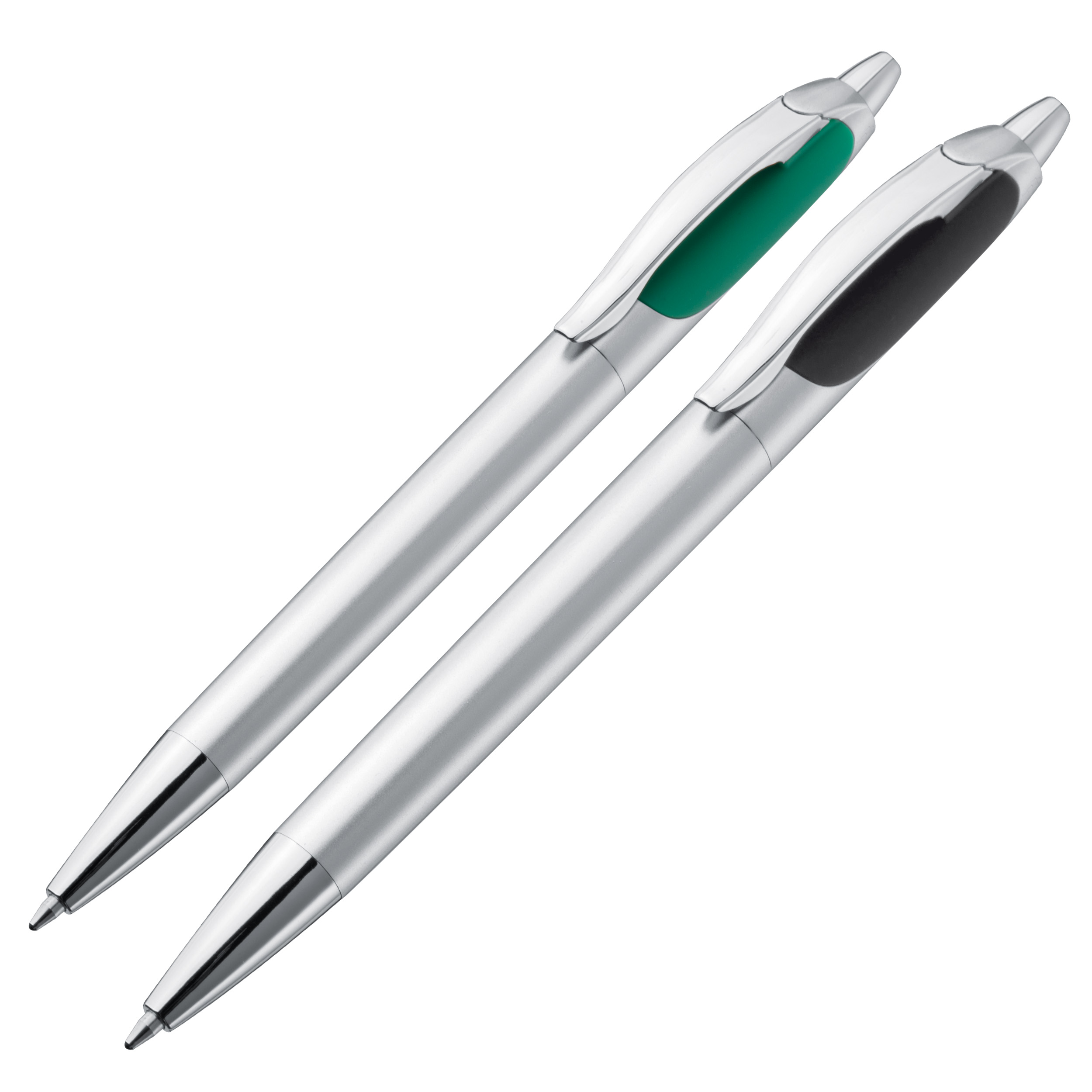 Ball pen with two writing sides