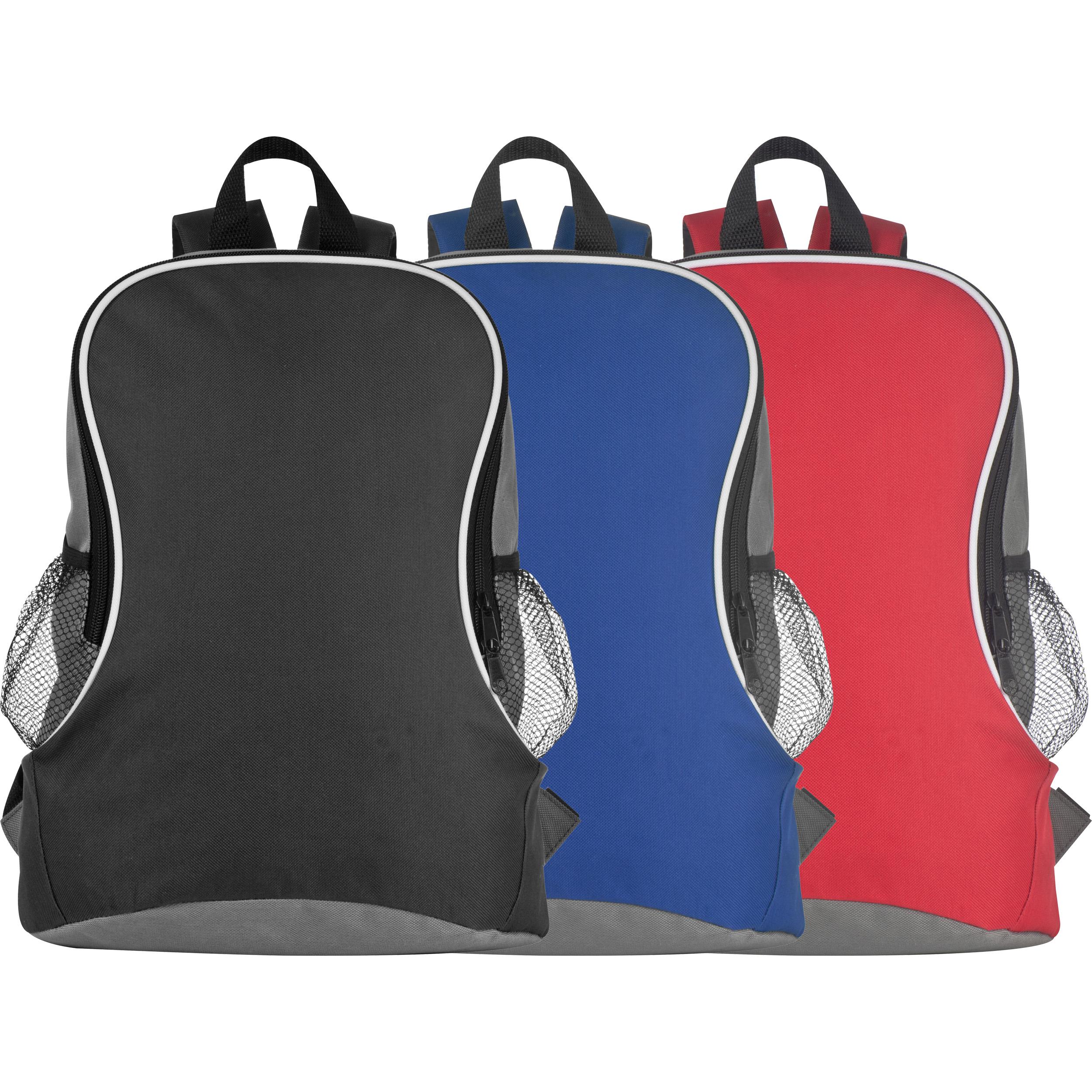 Rucksack mit Seitenfächern aus Polyester