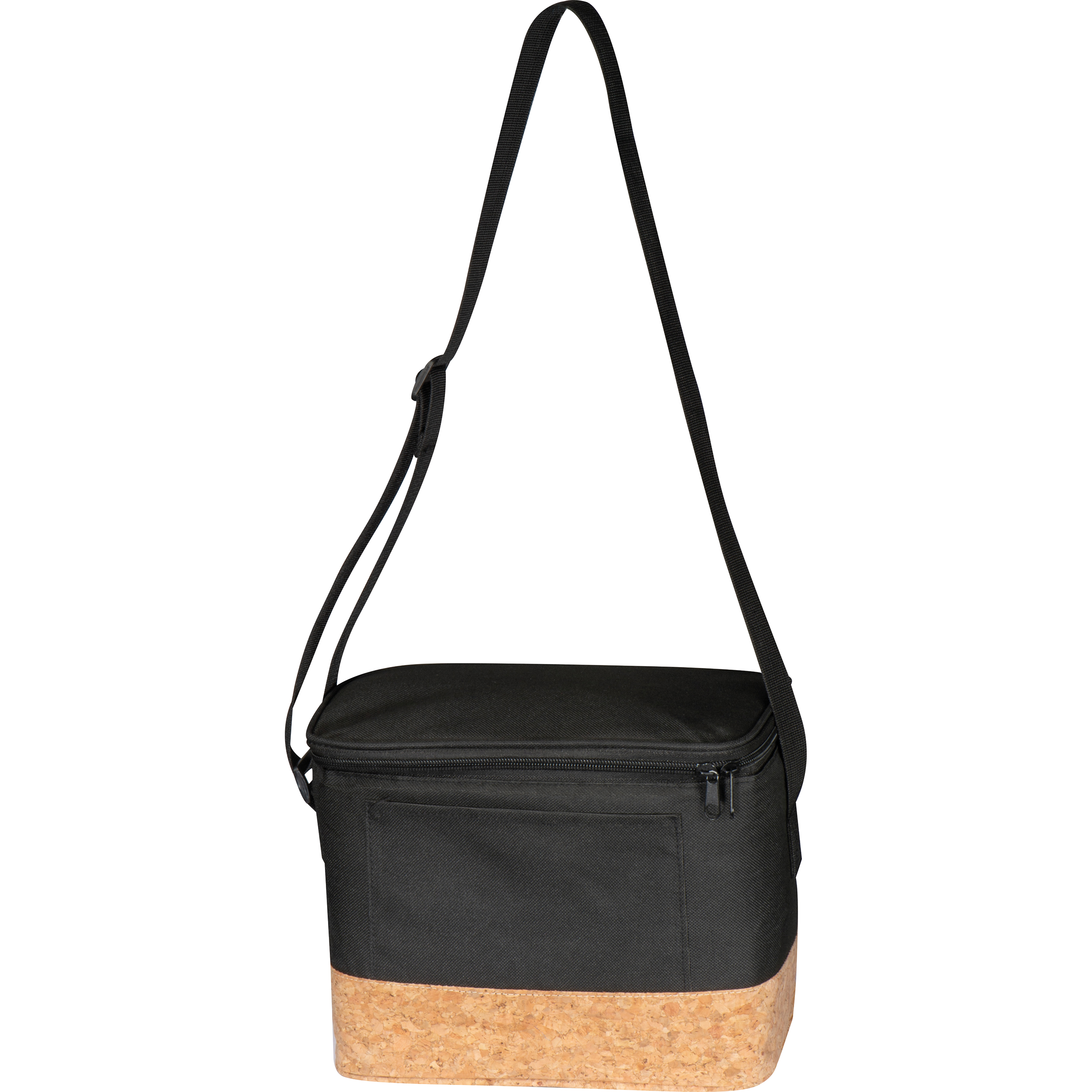 Polyester cooler bag with cork bottom