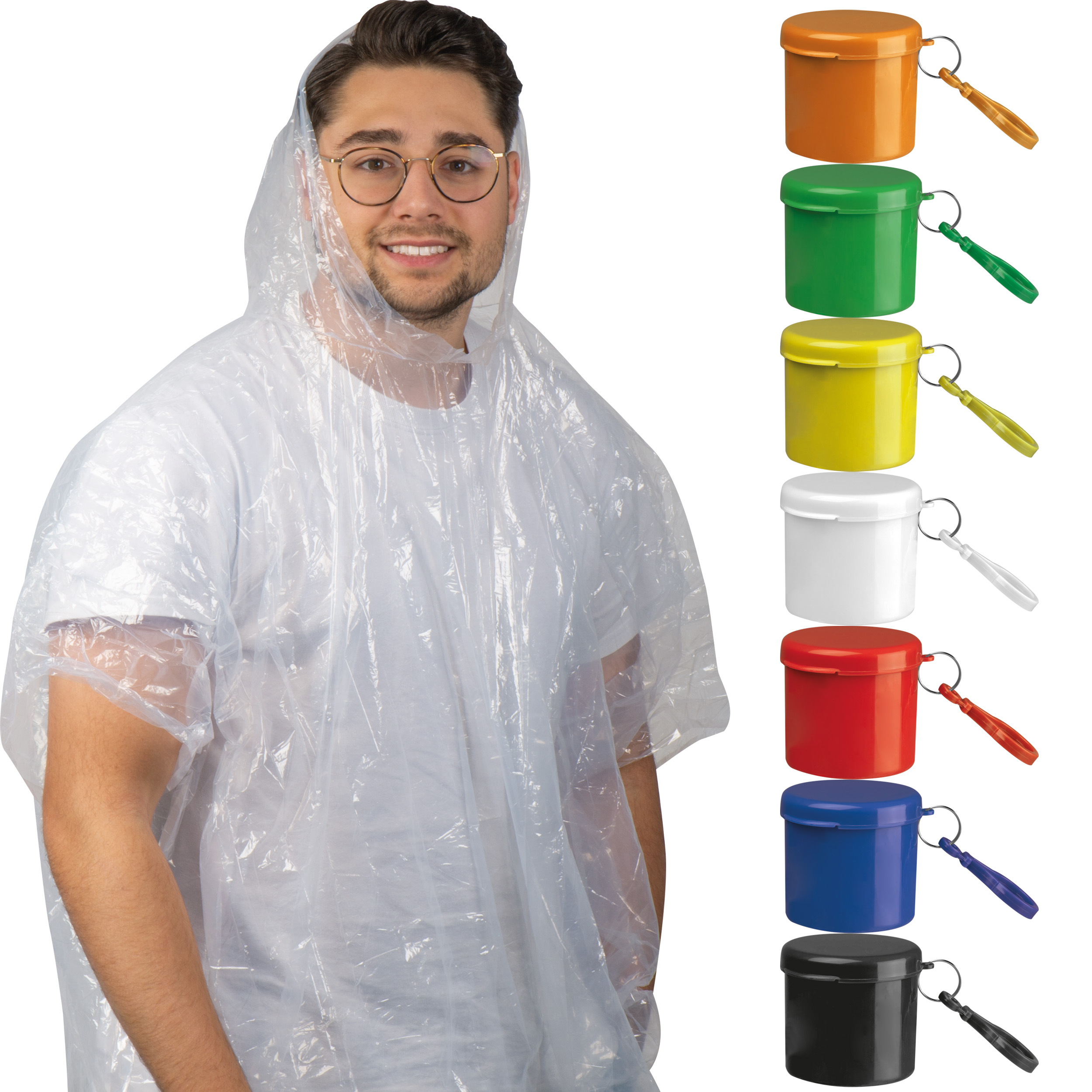 Rainponcho with portable can