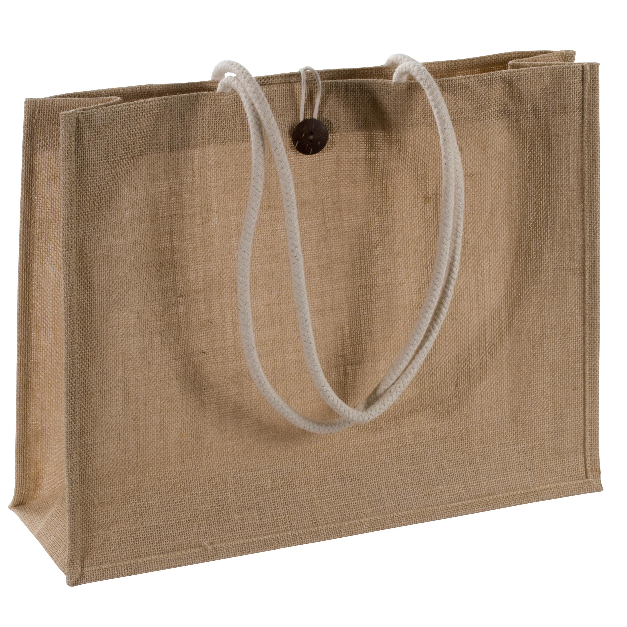Très grand sac de jute en couleur naturelle