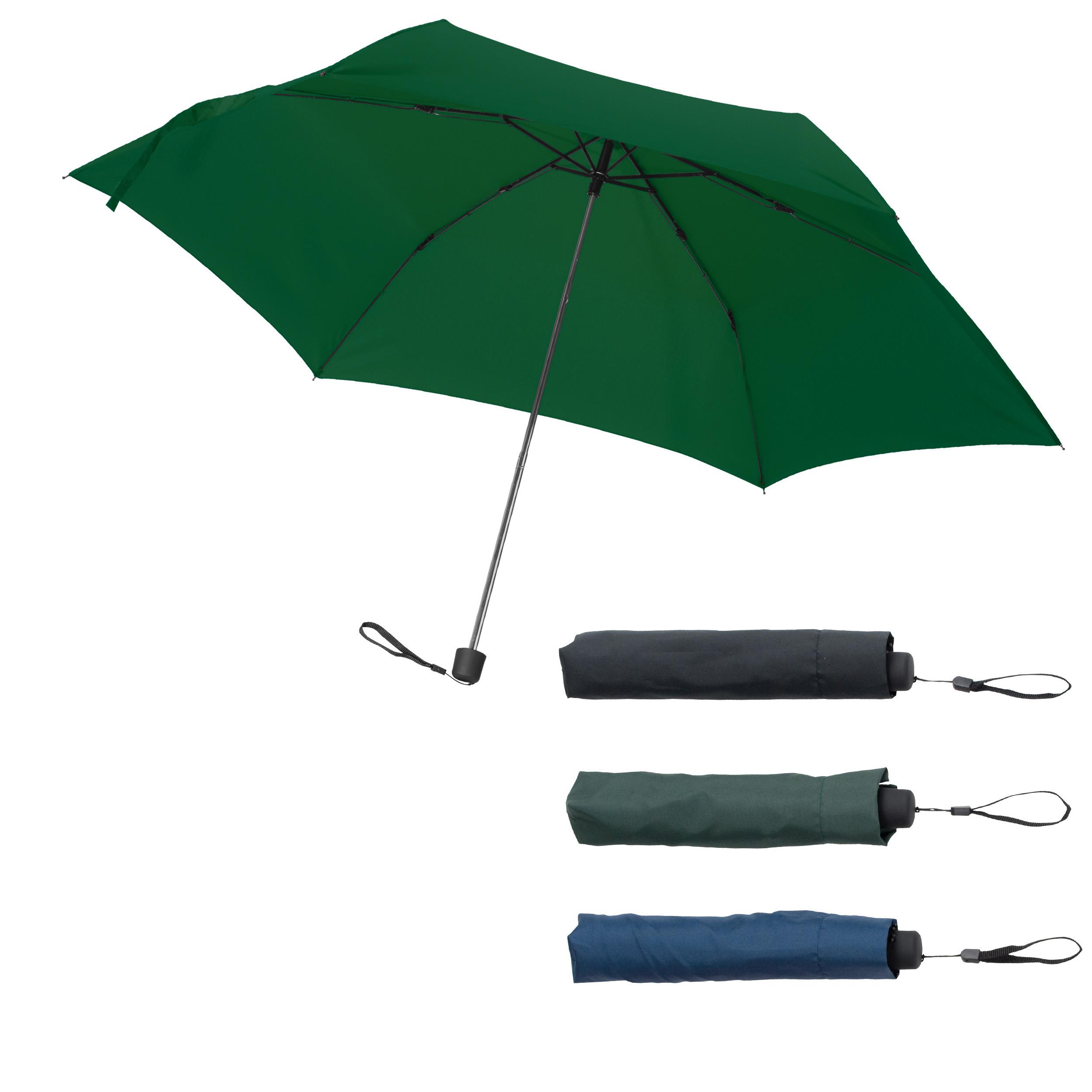 Mini-parapluie avec housse et poignée caoutchoutée