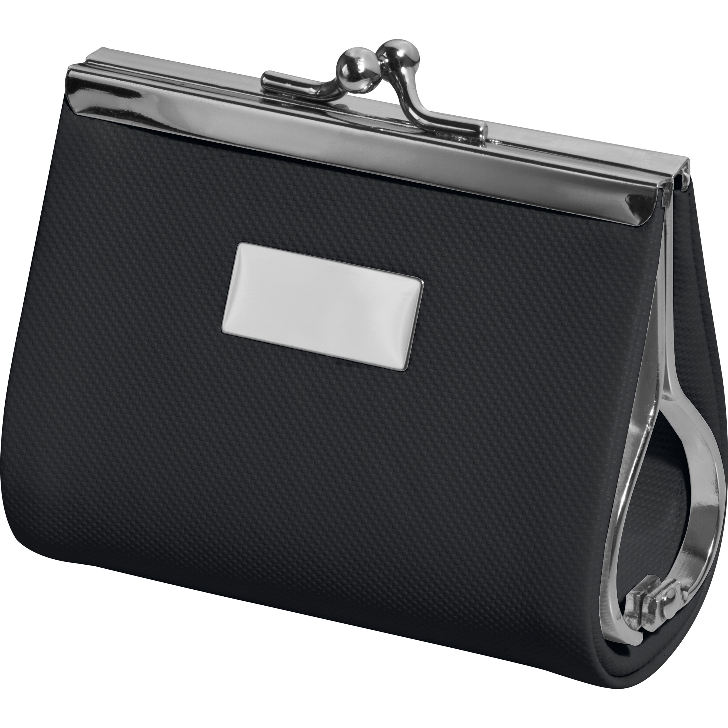 Beauty case with metal plate