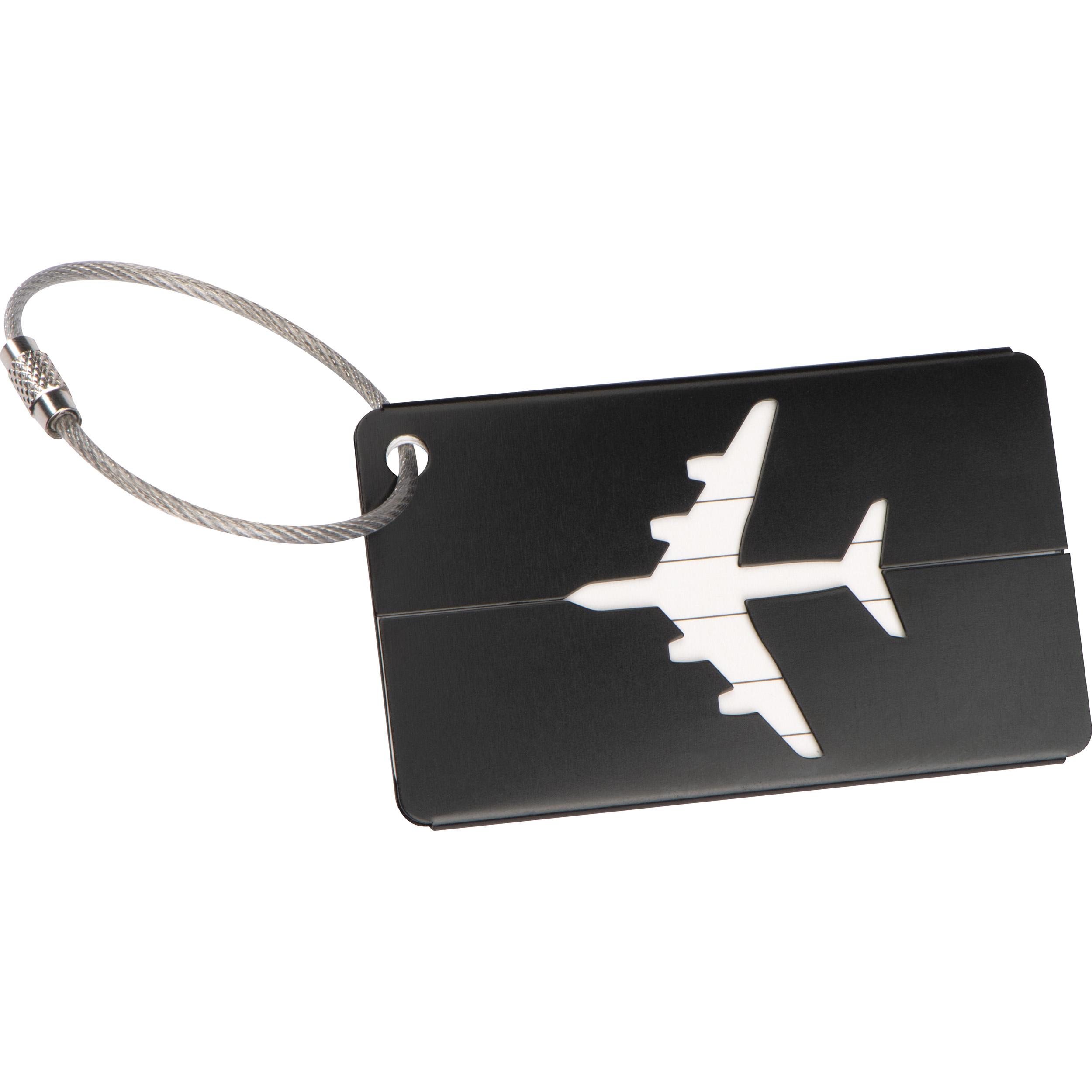 Porte-étiquette bagage en aluminium