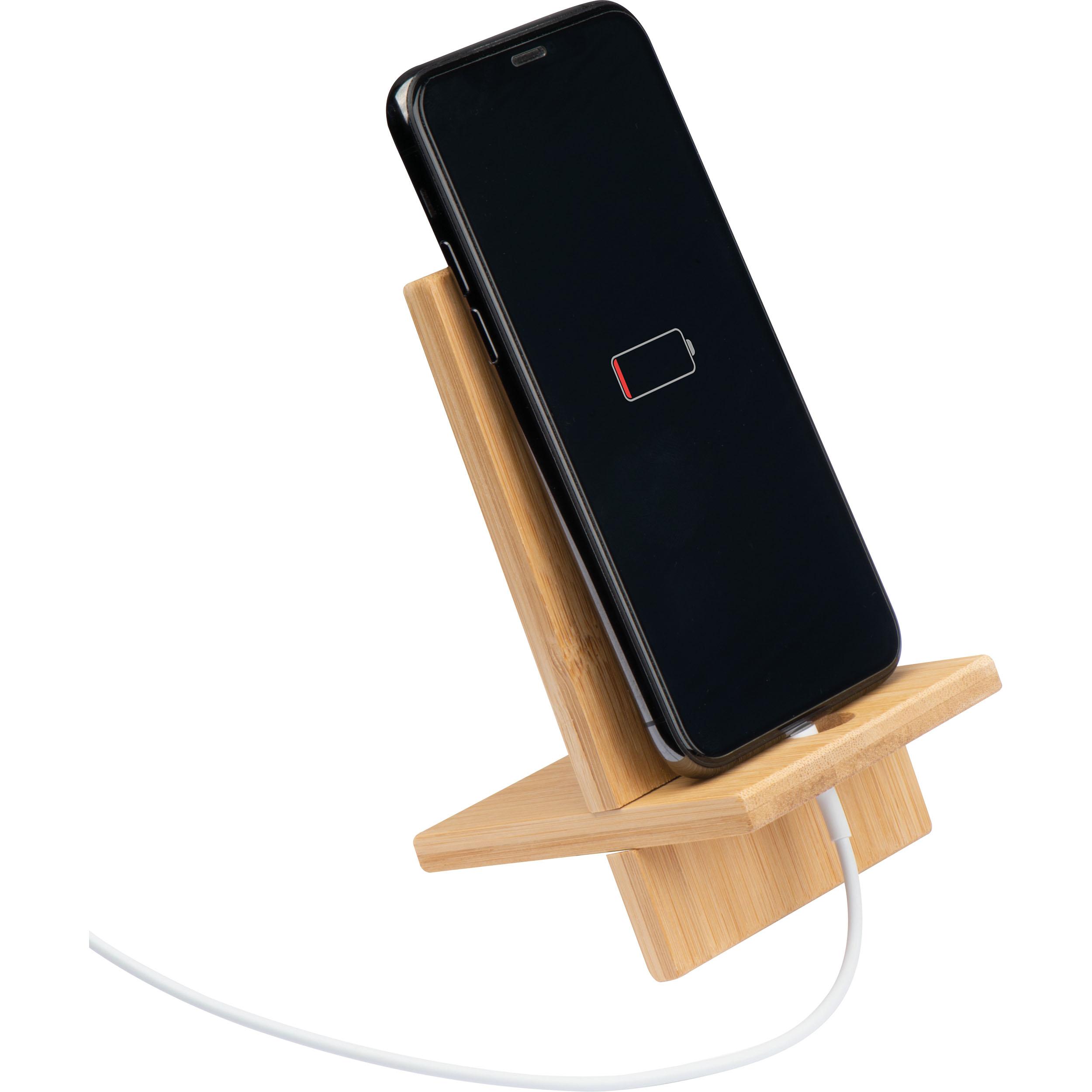 Support de téléphone portable en bambou