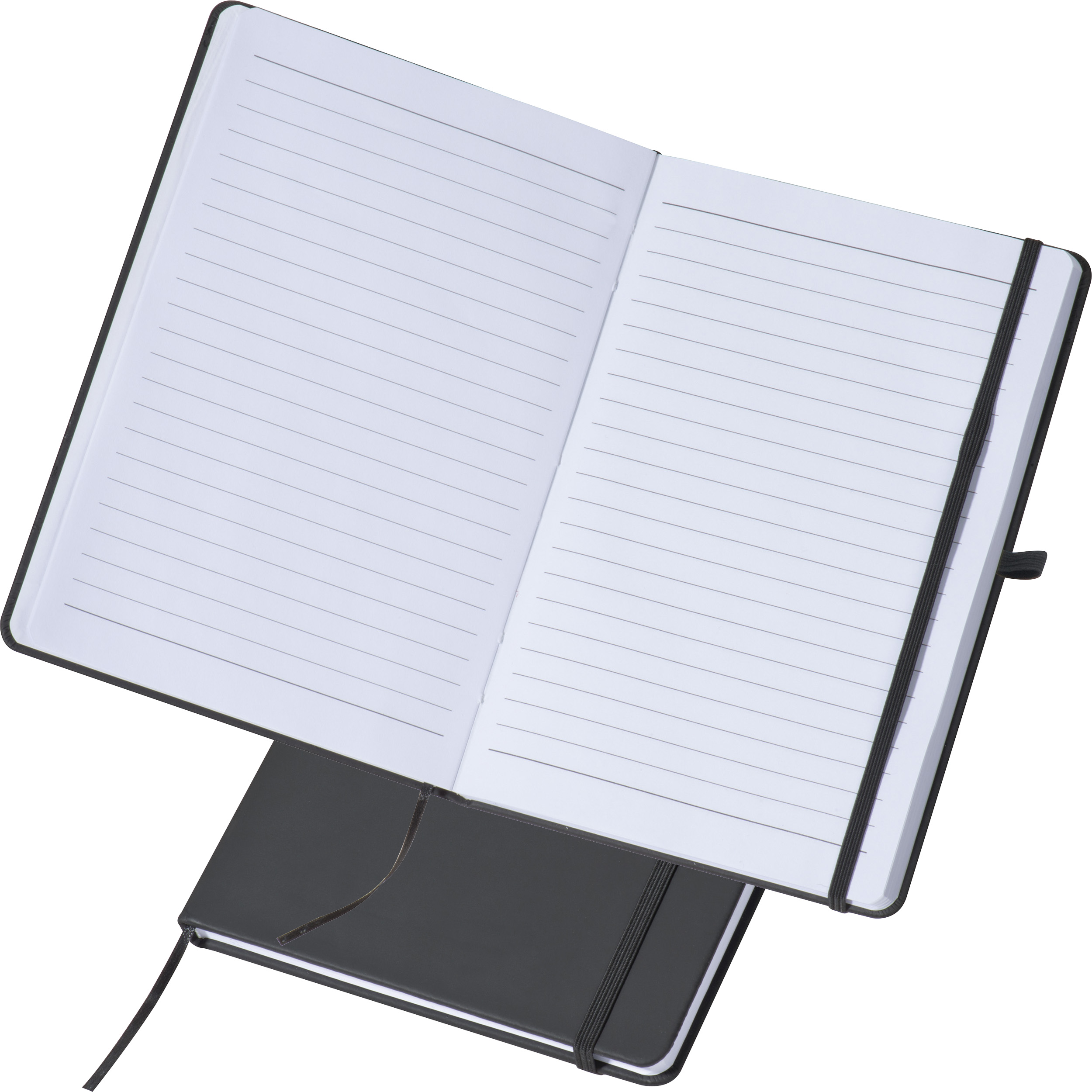 A5 notebook with lined pages