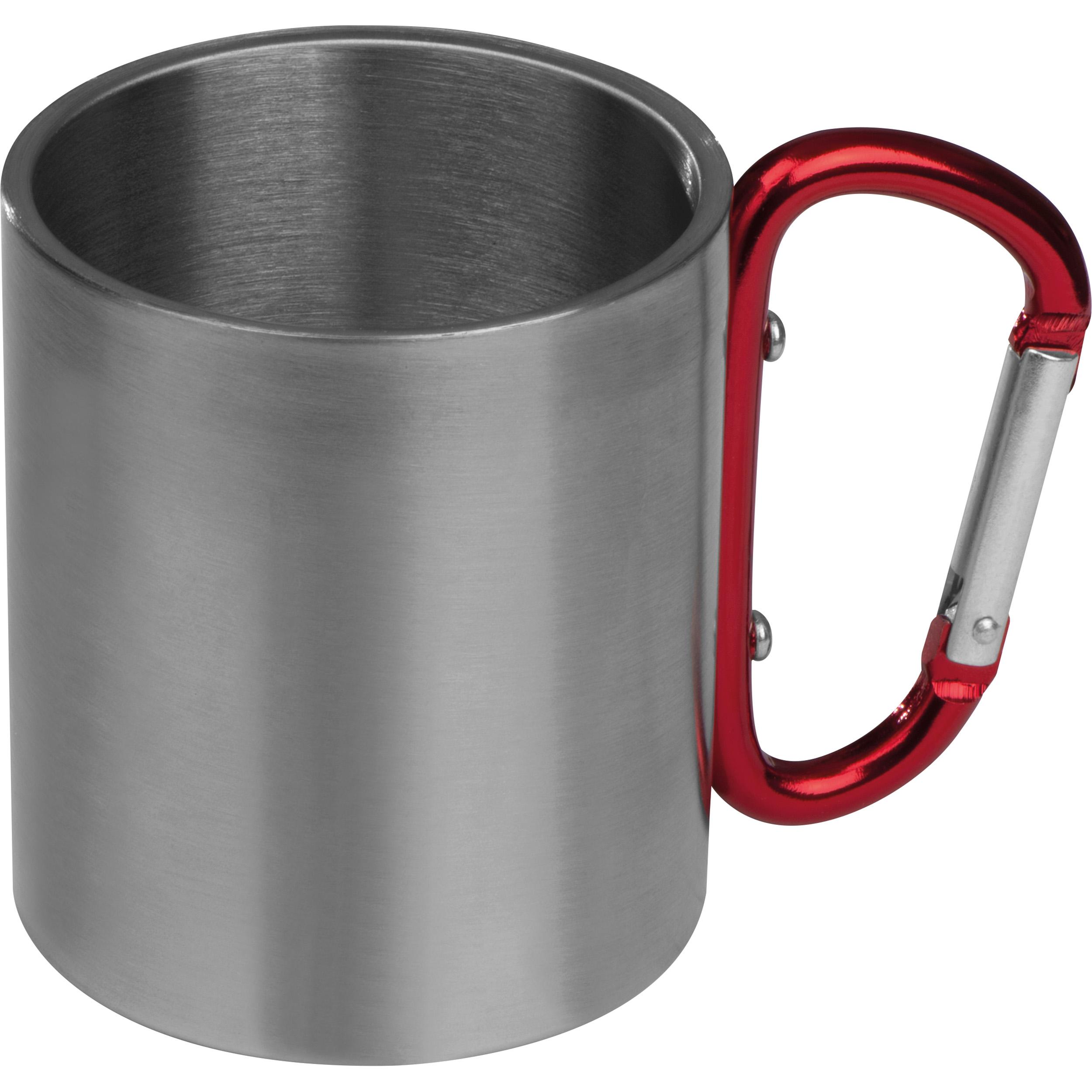 Metal mug with snap hook