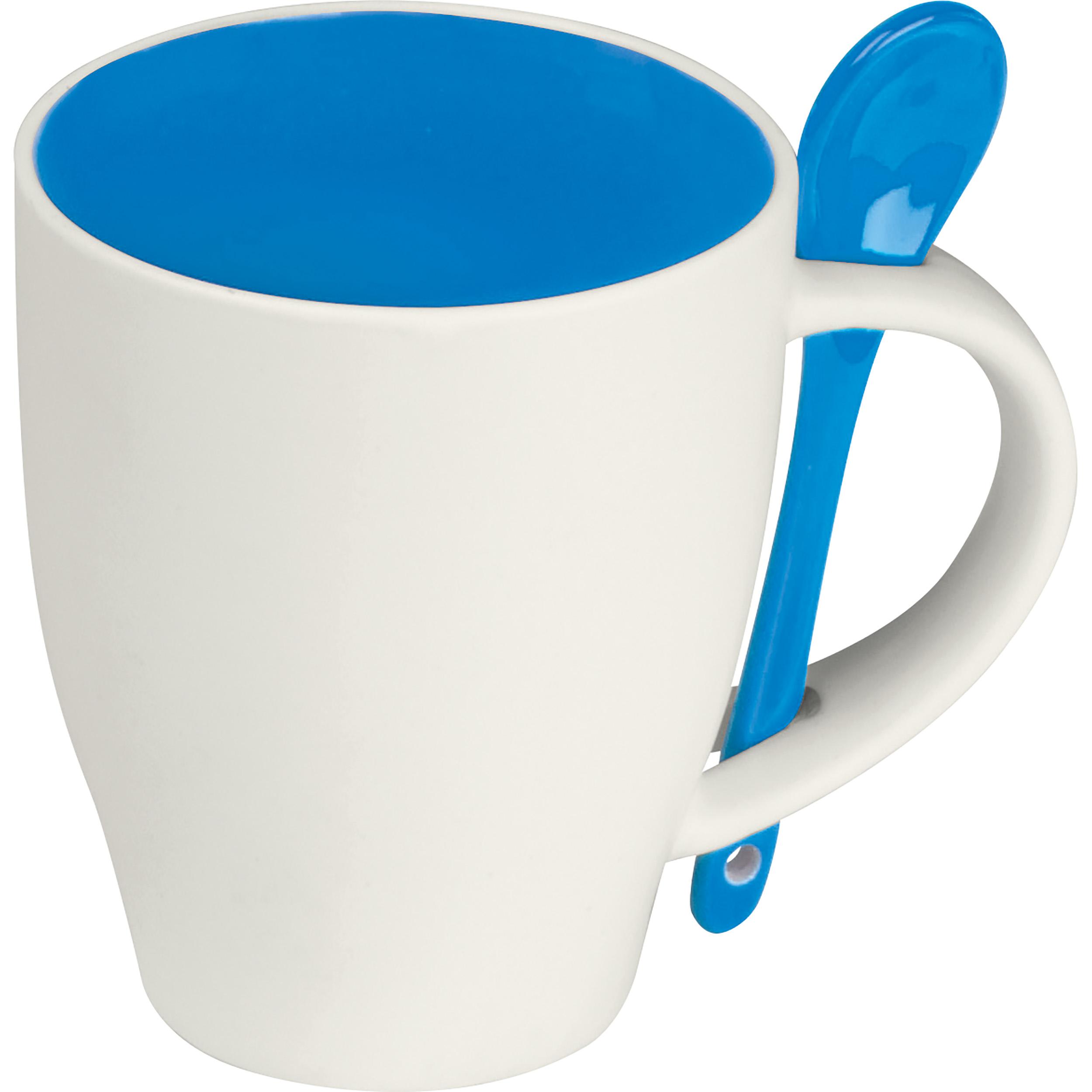 Tasse en porcelaine avec cuillère