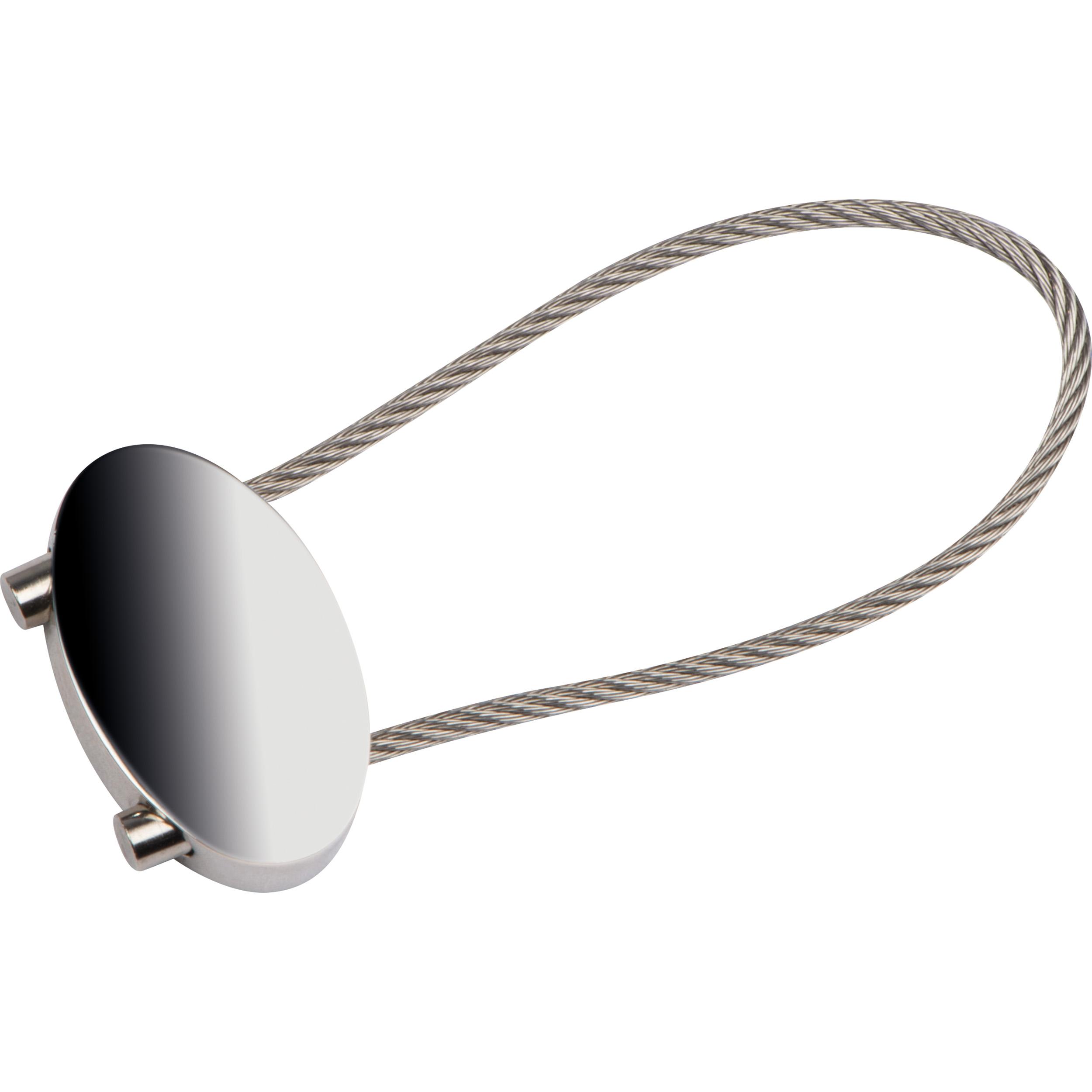 Ovaler Schlüsselanhänger mit Drahtschlaufe