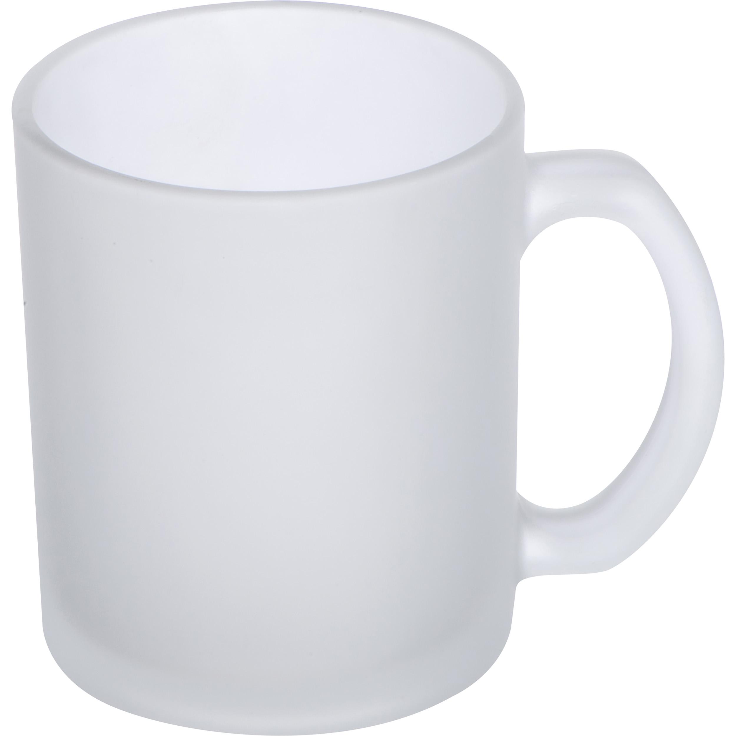 Tasse pour la grande pause café en verre maté