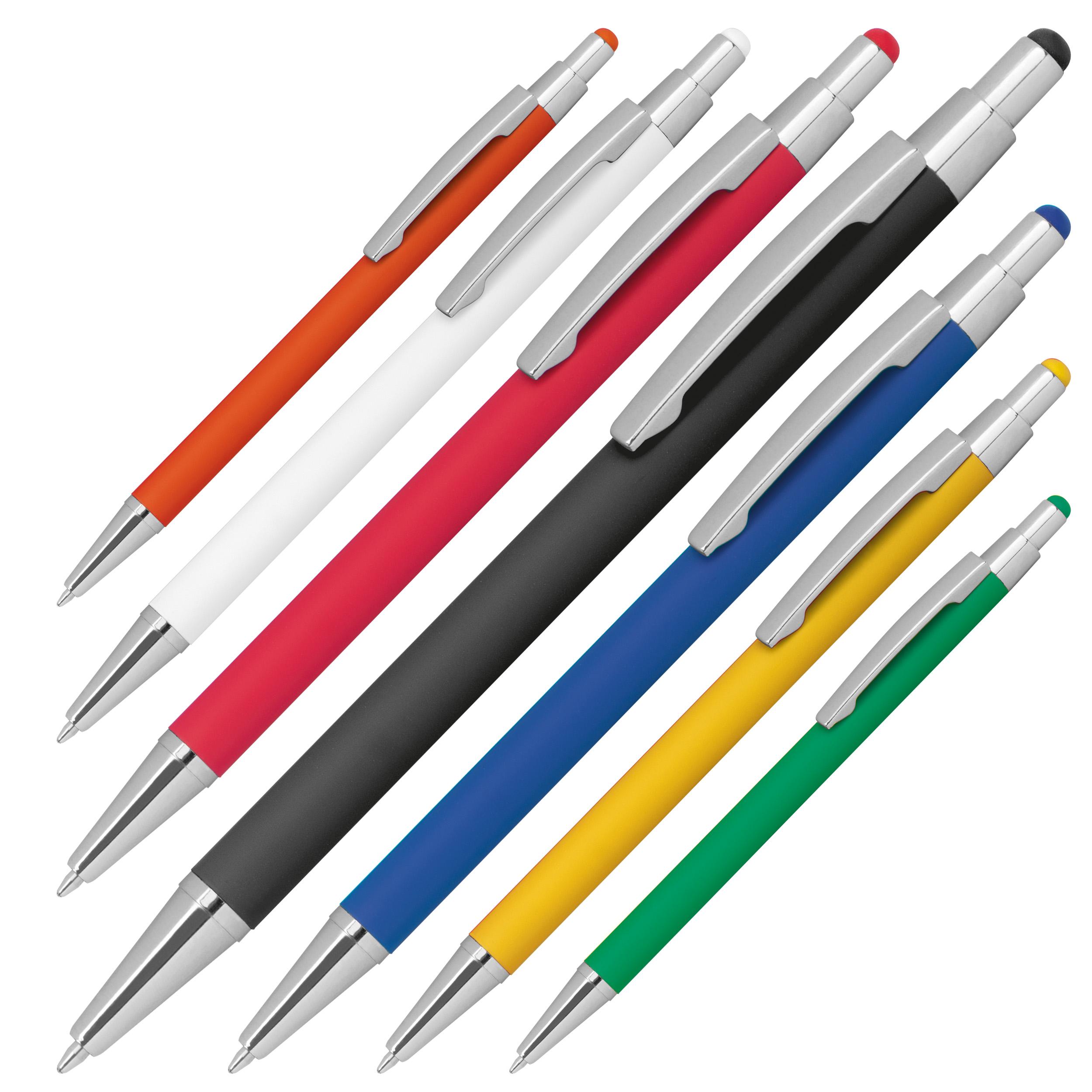 Kugelschreiber aus Metall mit Rubberfinish und Touchfunktion